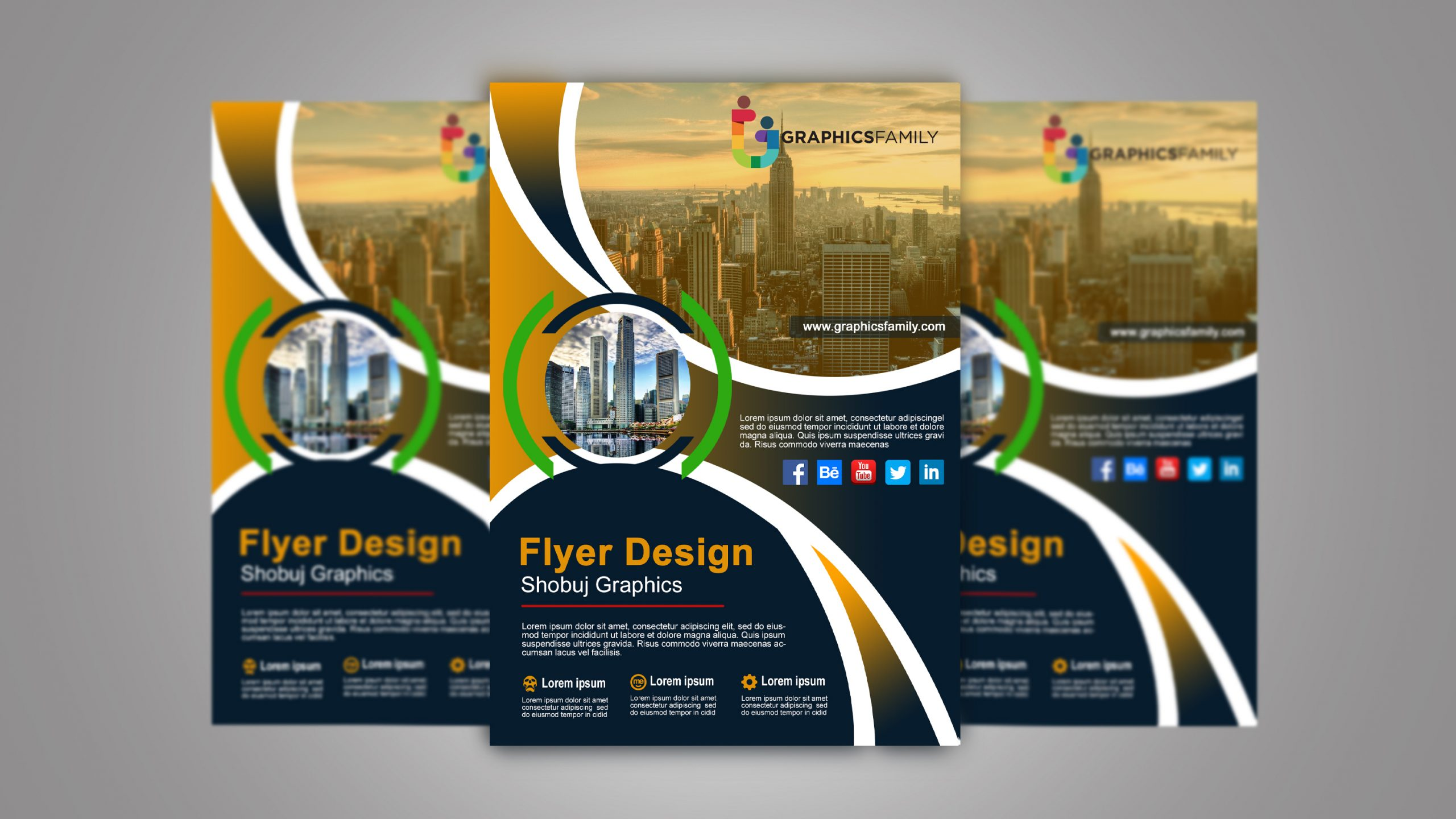 Flyer Layout Template Free from graphicsfamily.com