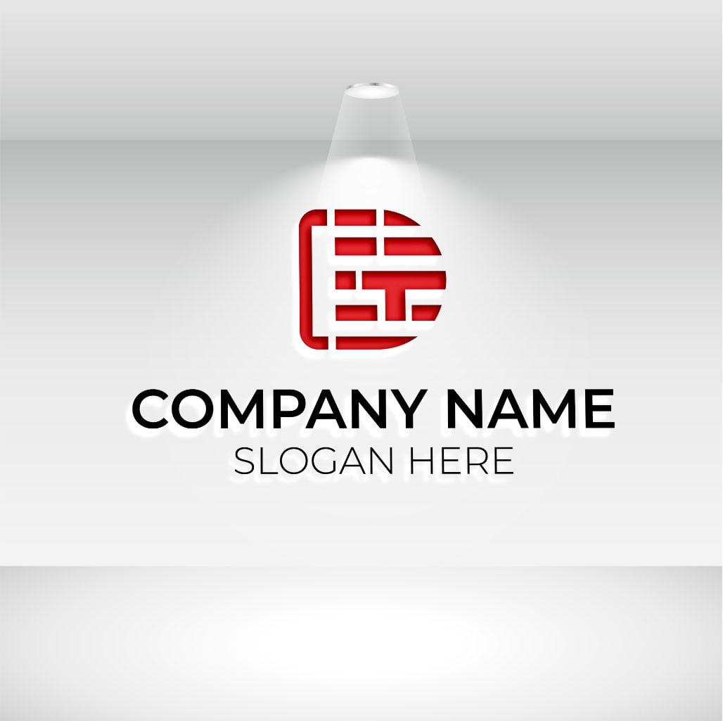 D tech logo for company