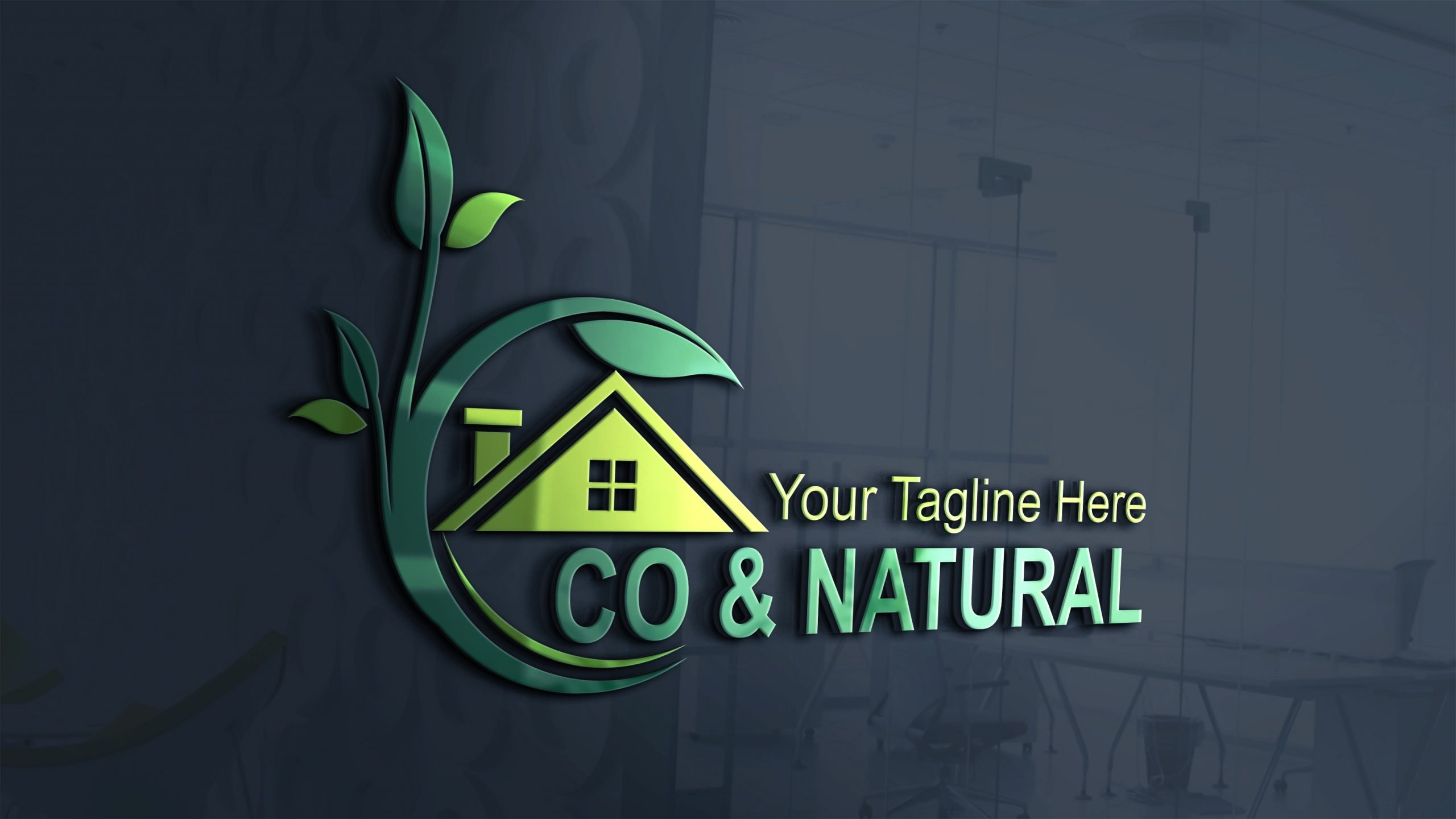 Eco & nature house logo design template