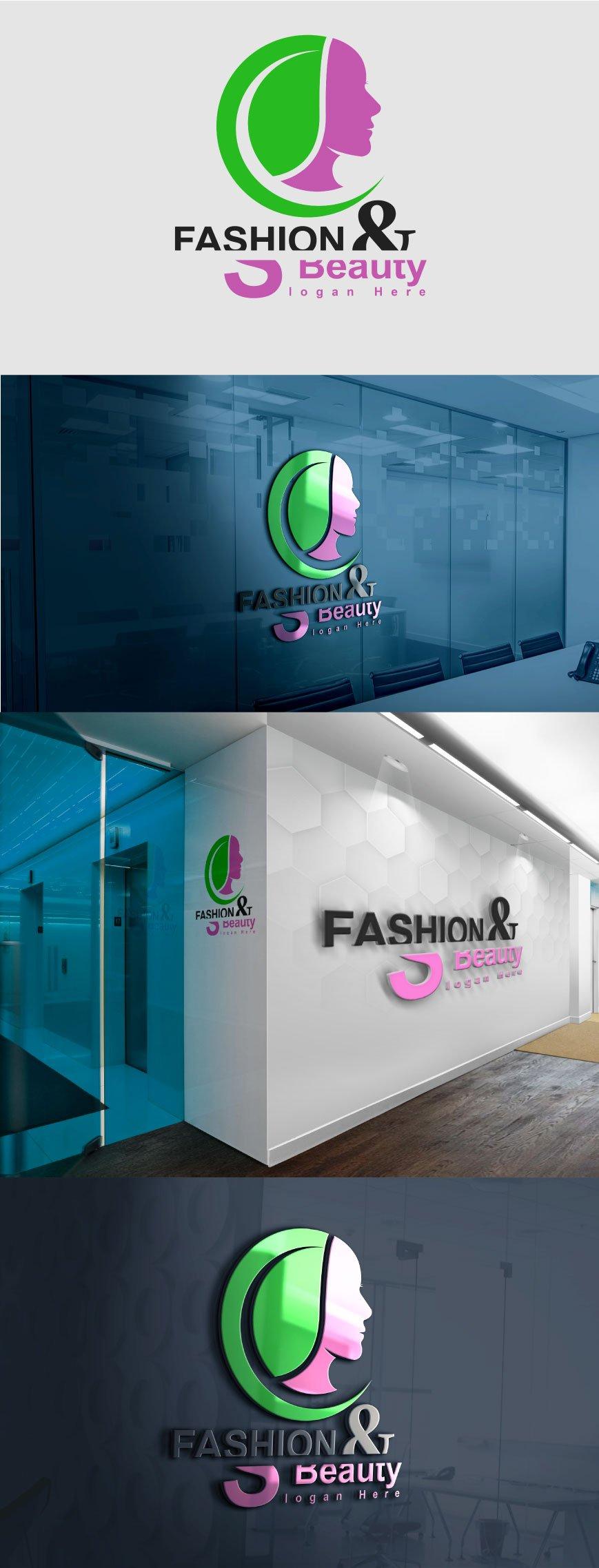 Fashion and beauty logo template