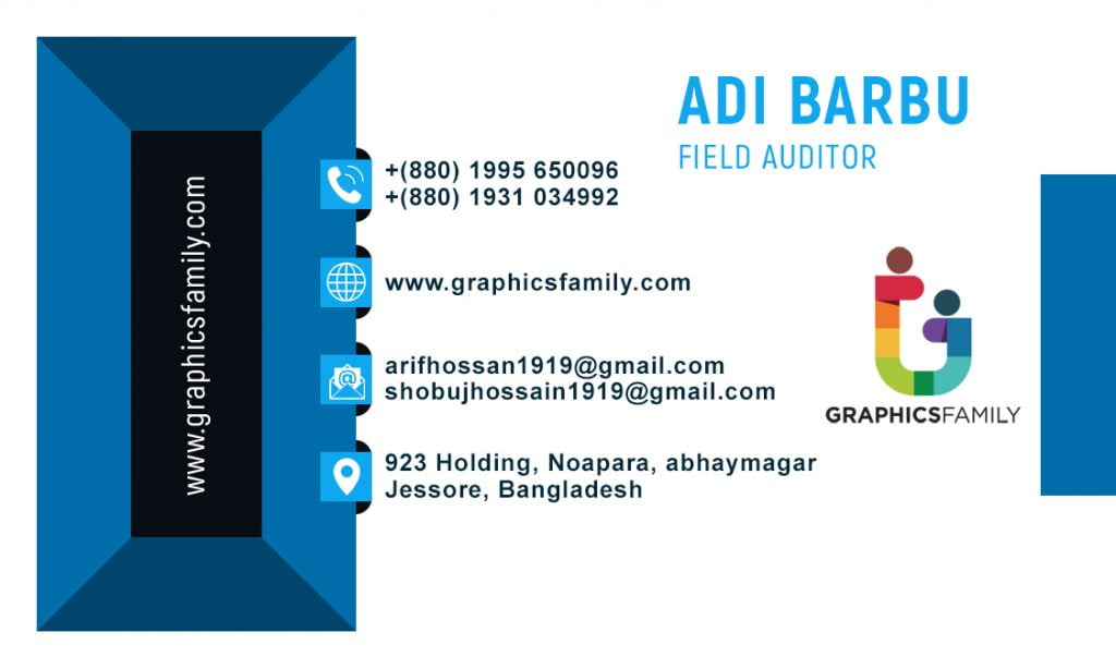 Field Auditor Business Card Design Back Part
