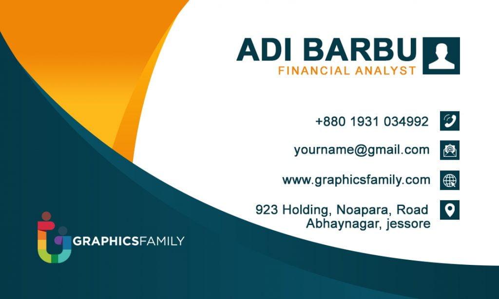 Financial Analyst Business Card Design Back Side