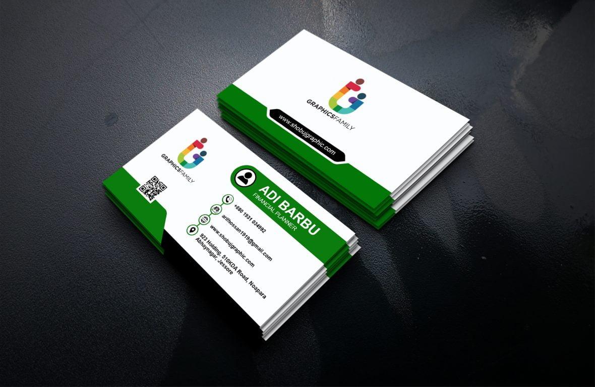 financial planner business card design template psd