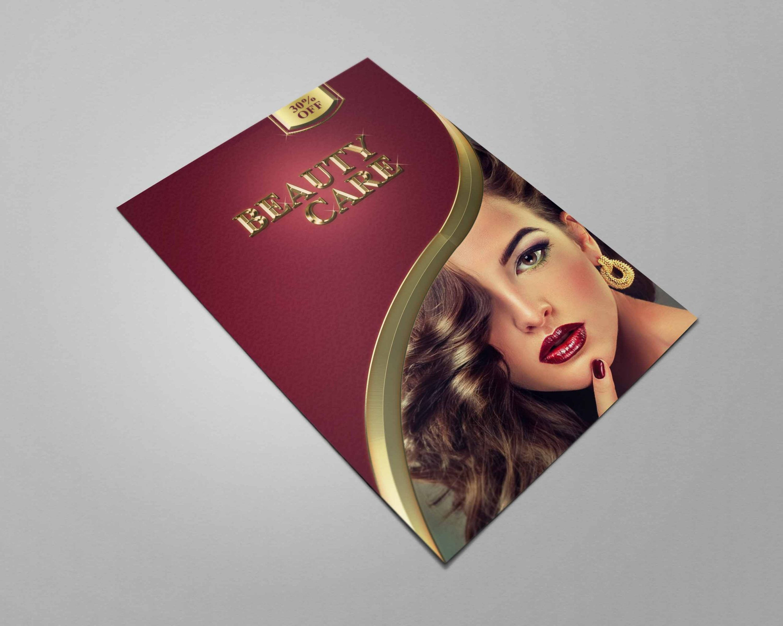 Flyer Design For Beauty Care