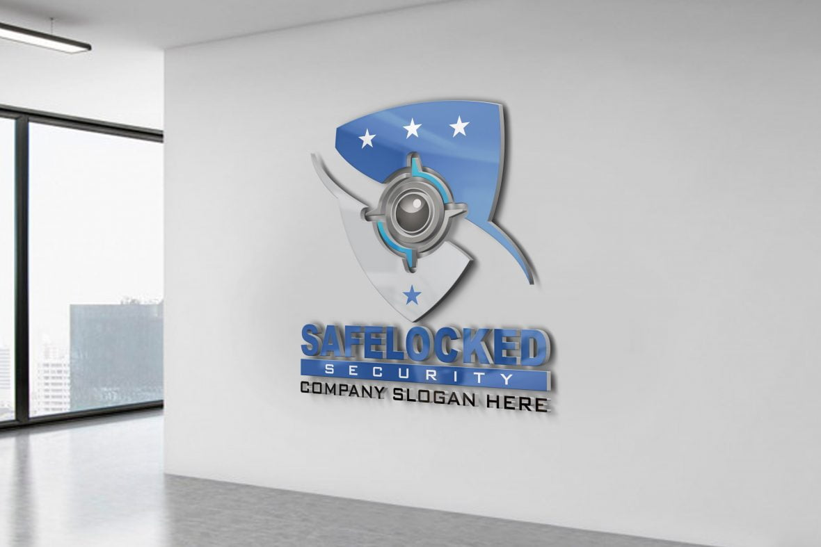 Free-Security-Logo-Design-on-white-wall-scaled