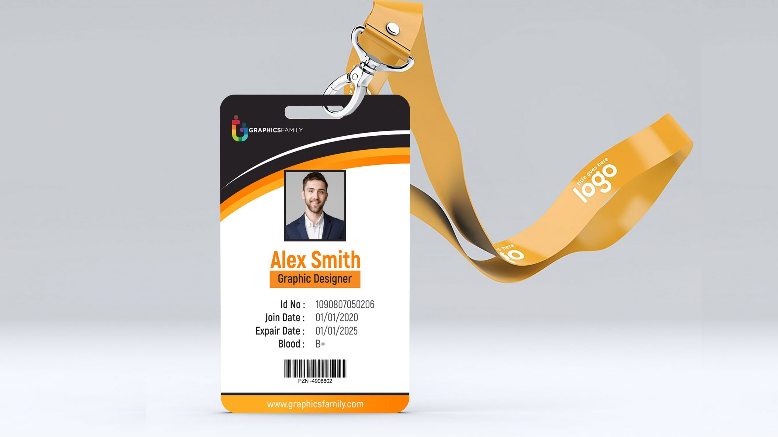 Free online ID card Template