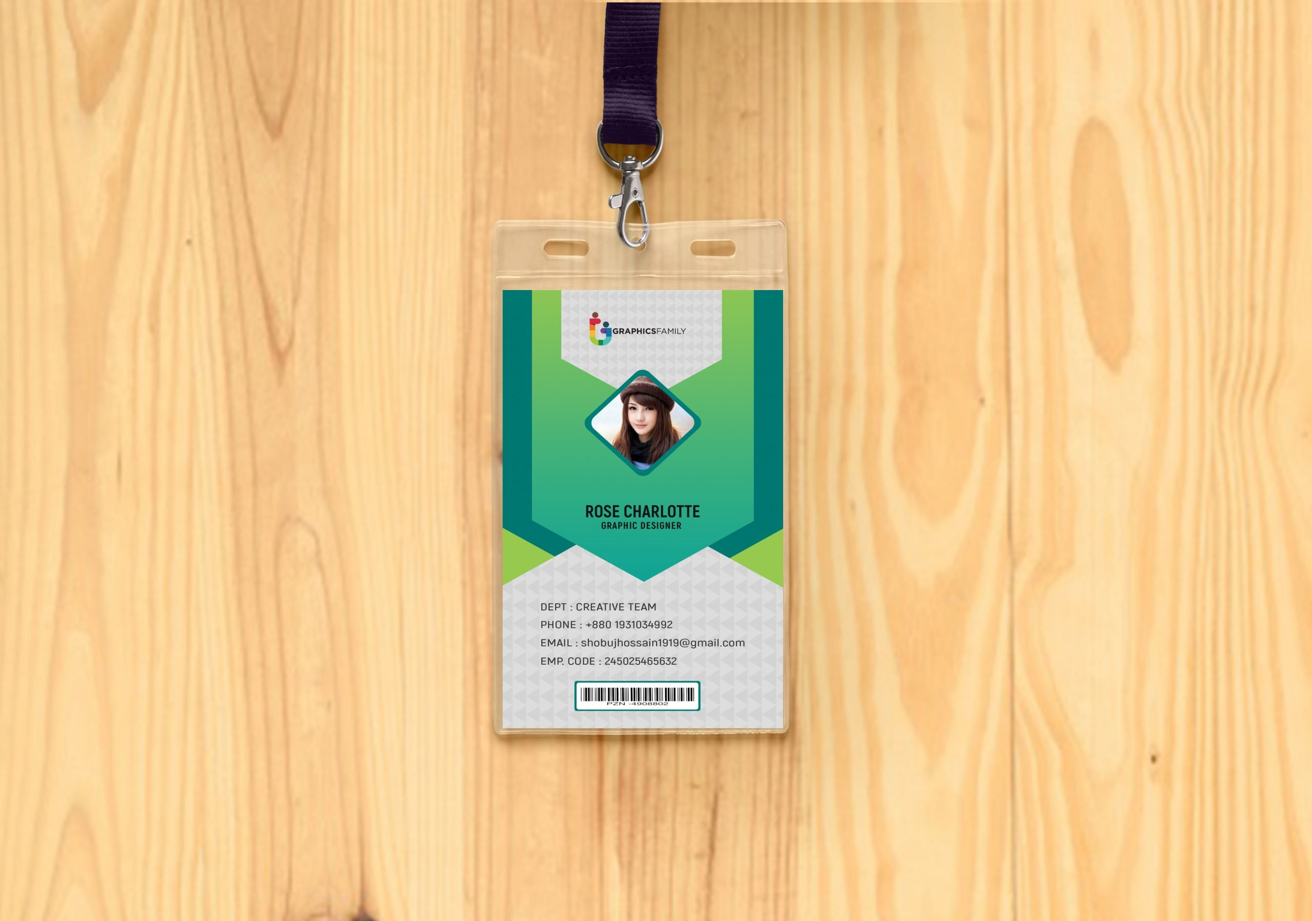 modern id card design template free psd  graphicsfamily
