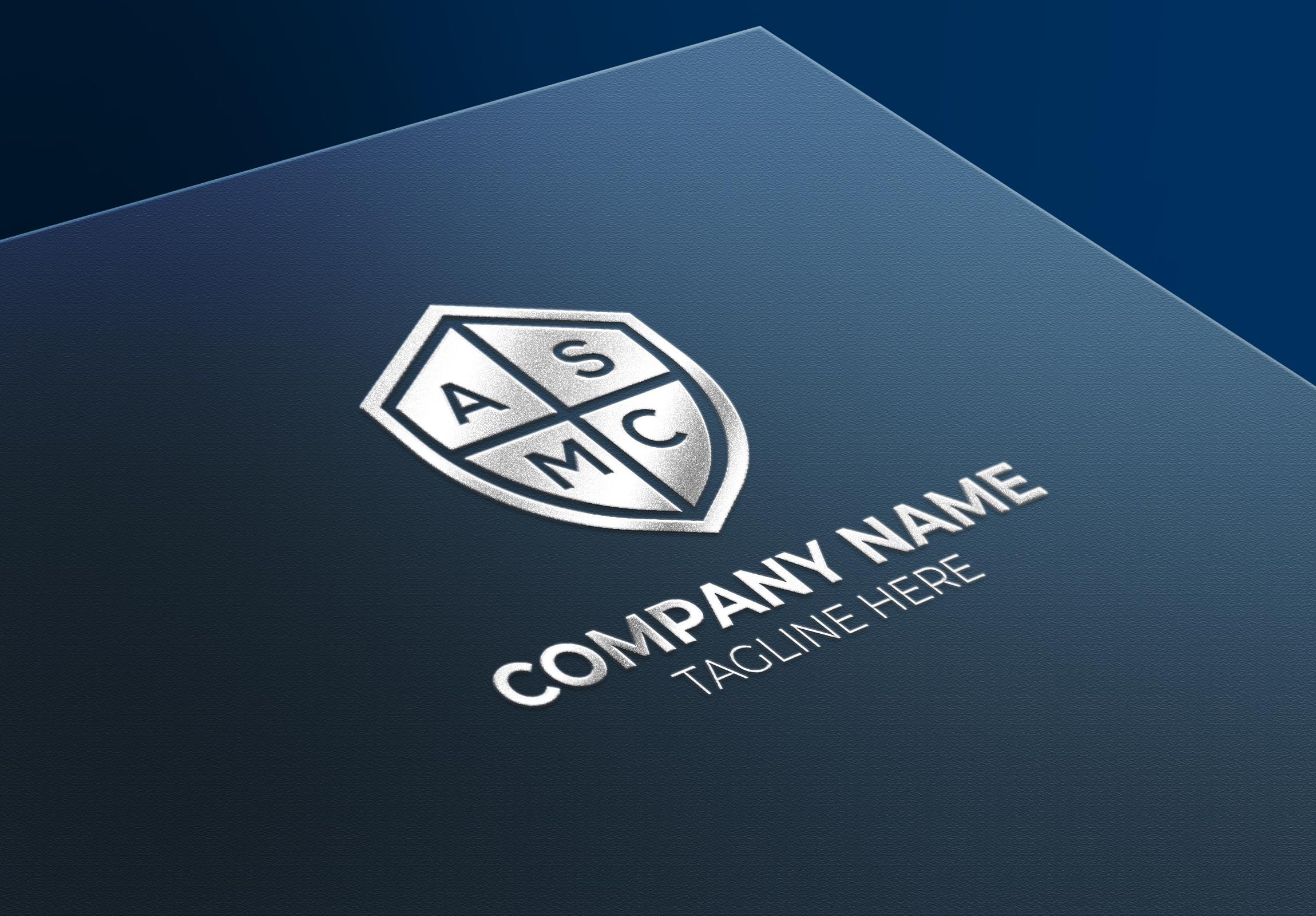 Logo Mockup in Silver Text Effect