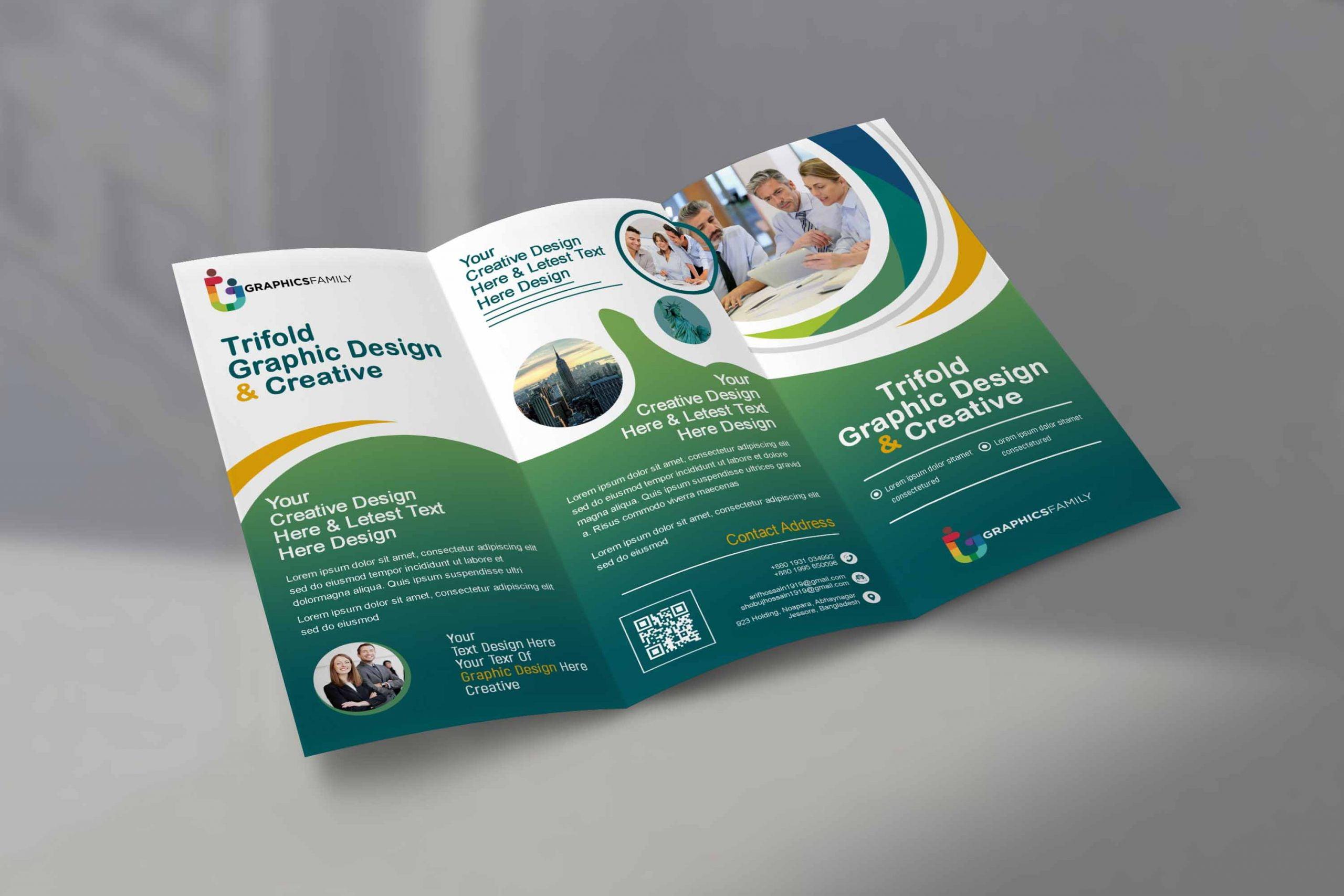 Medical Tri Fold Brochure in Flat Style