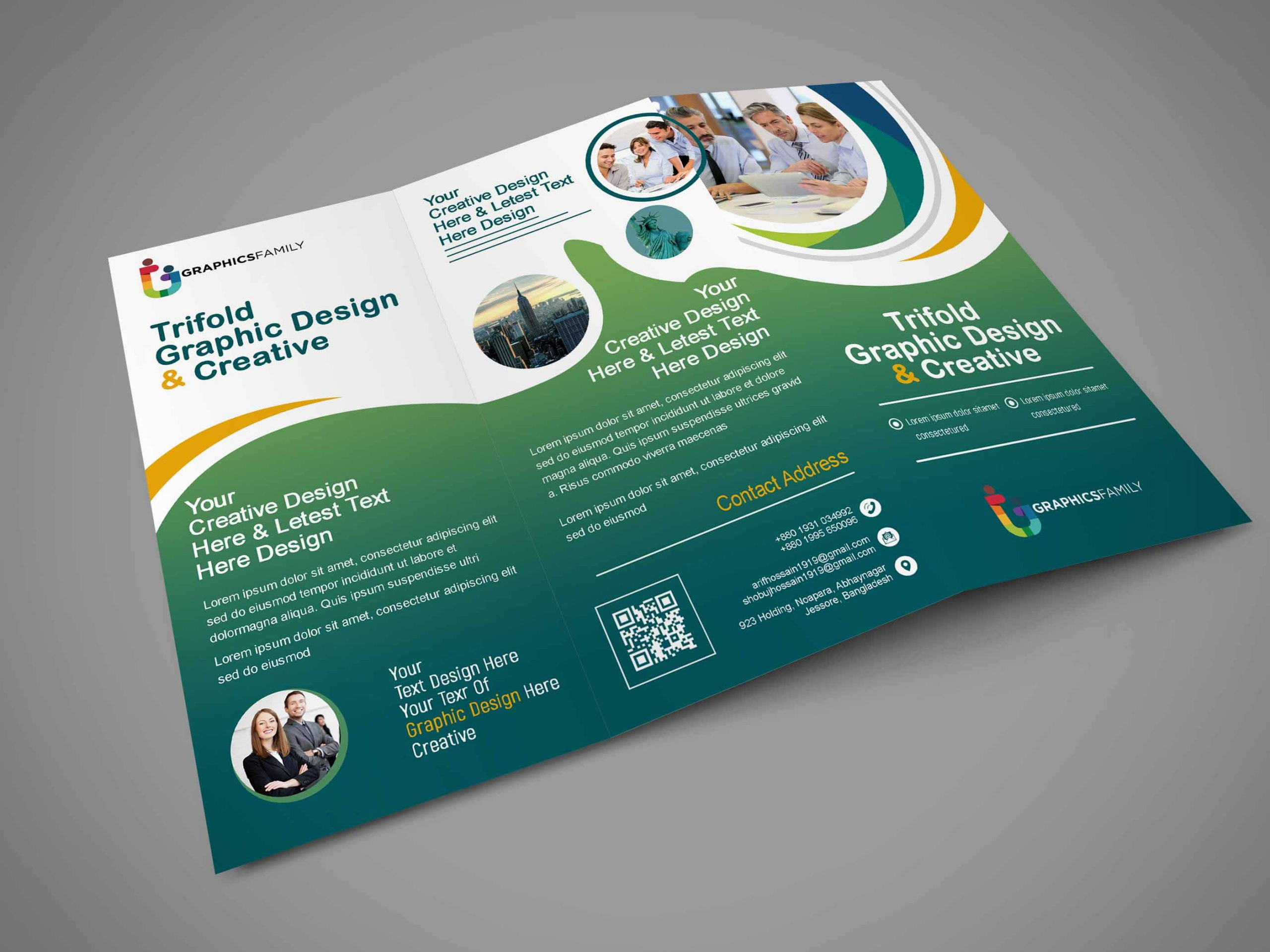 Modern And Clean Medical Trifold Brochure