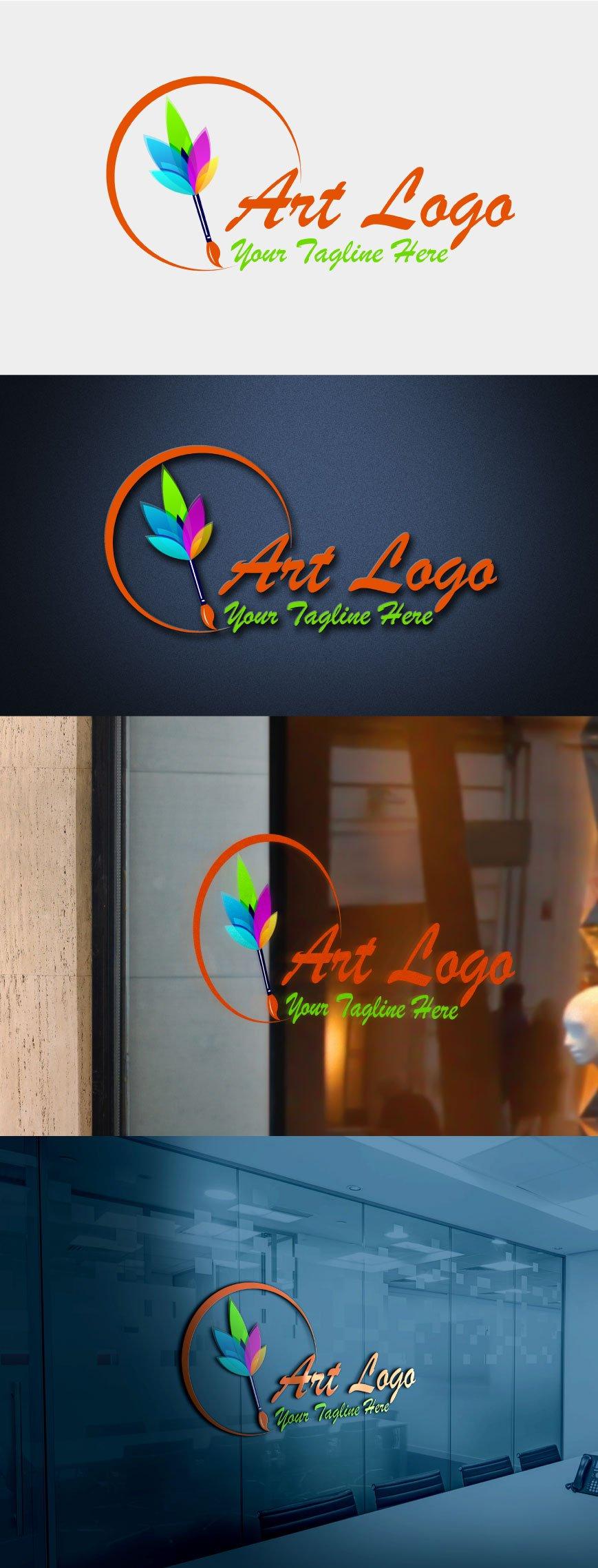 Modern Art Logo Design Template