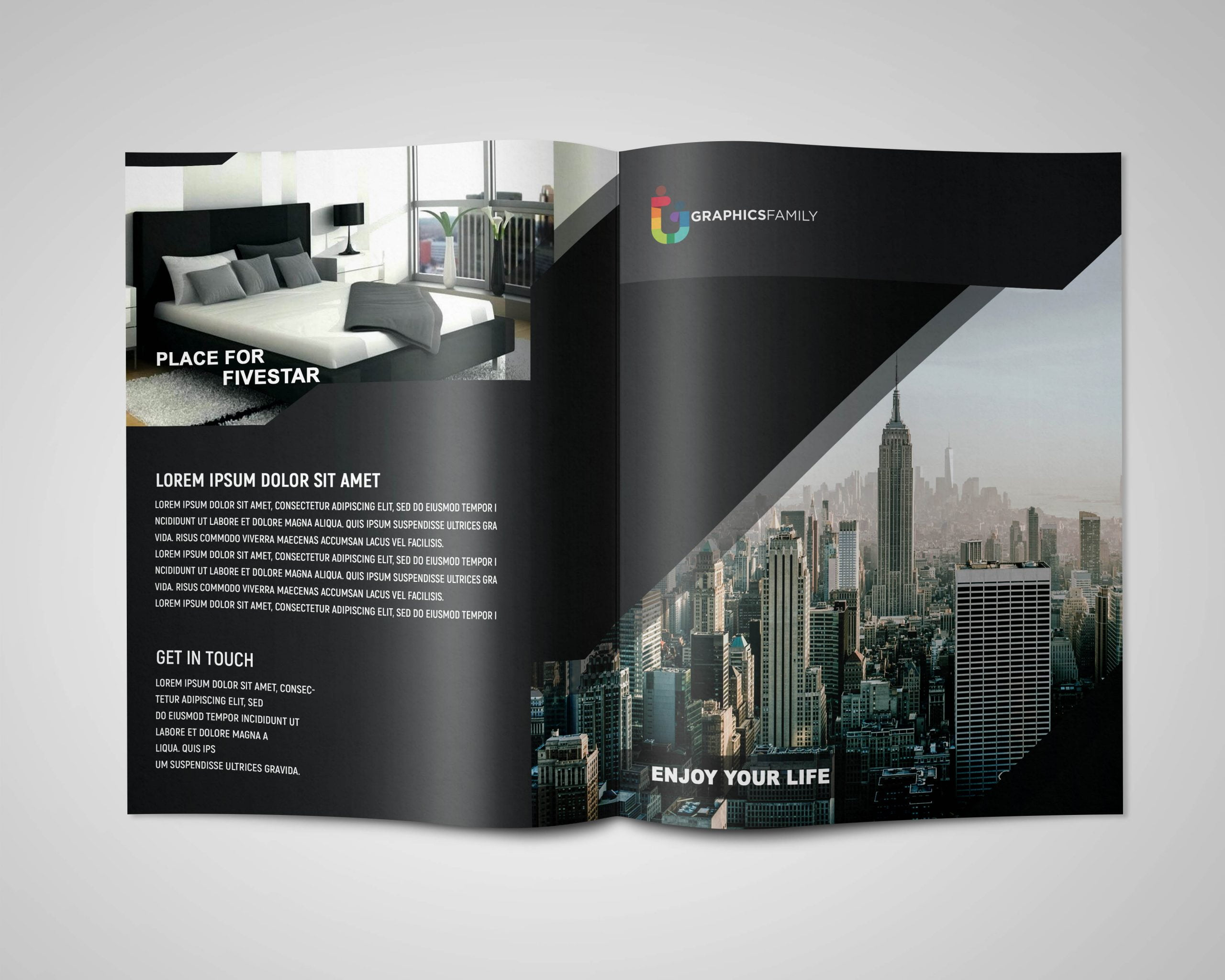 Modern Black Brochure Presentation