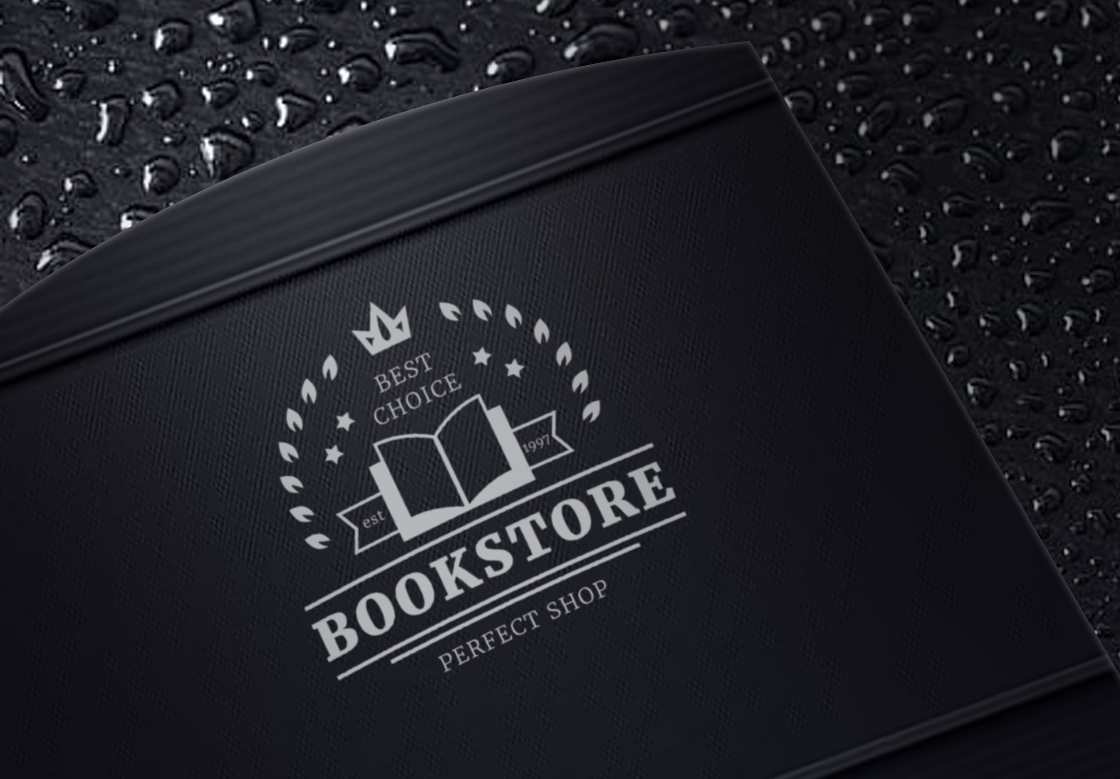 Modern Black Logo mockup