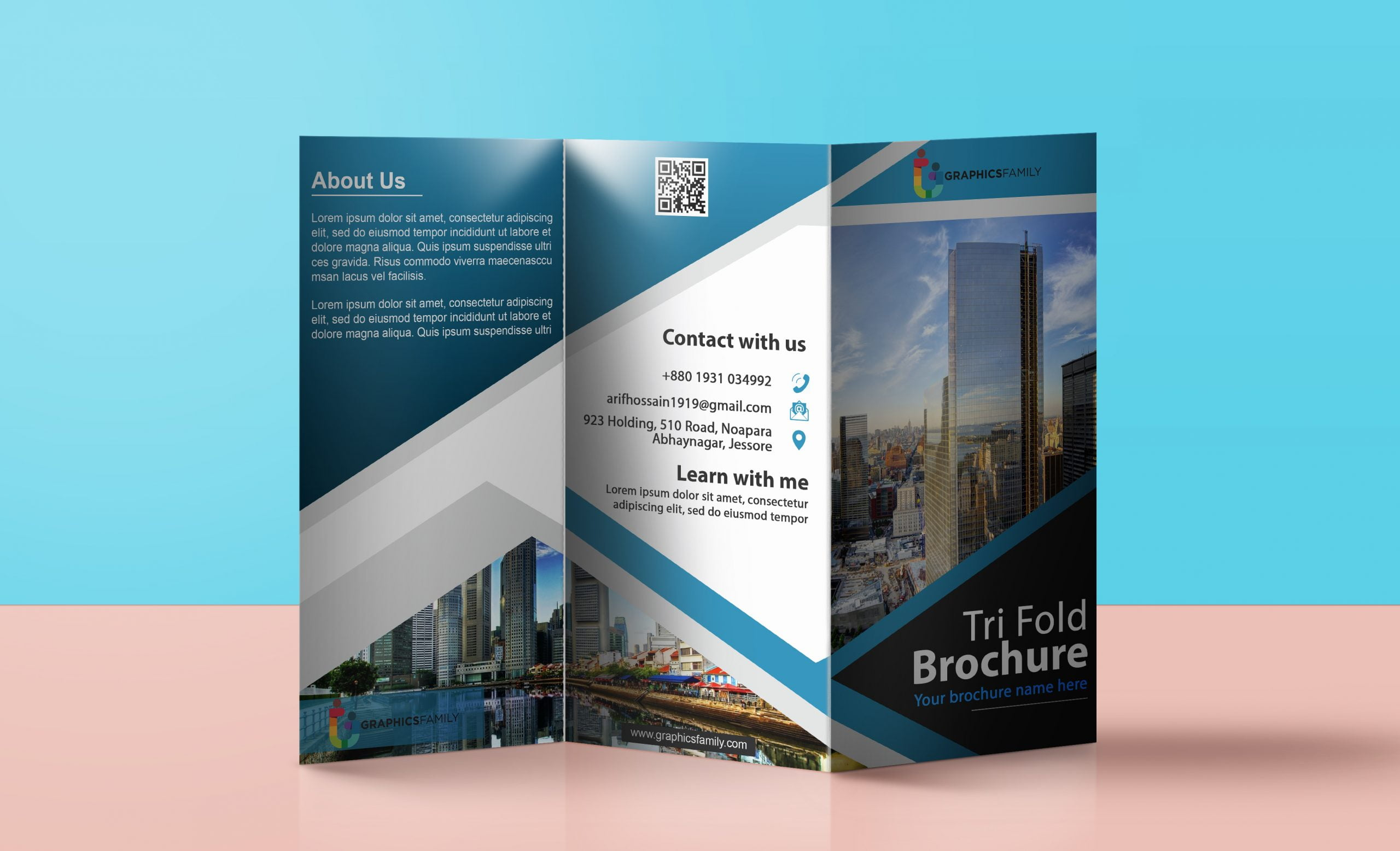 Modern Brochure Template With Flat And Elegant Concept psd download