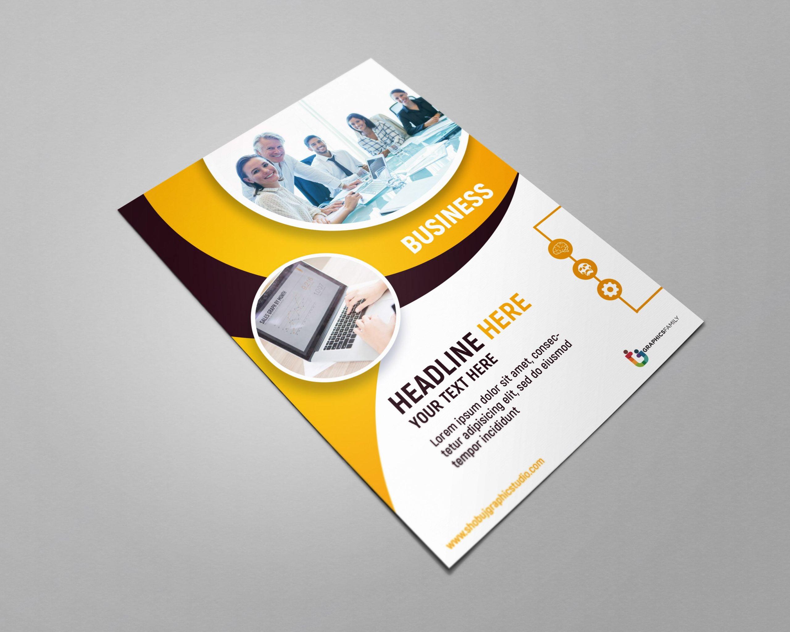 Modern Business Flyer Free psd
