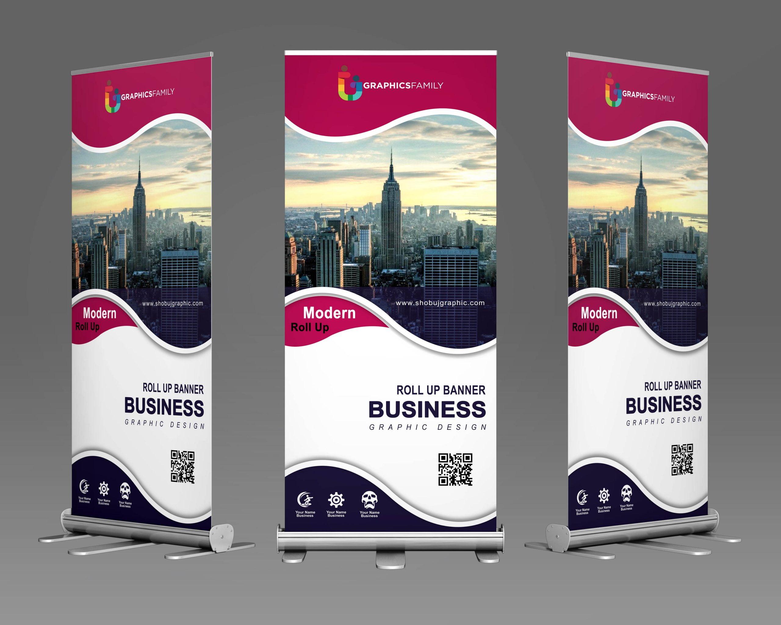Modern Roll up Banner for marketing