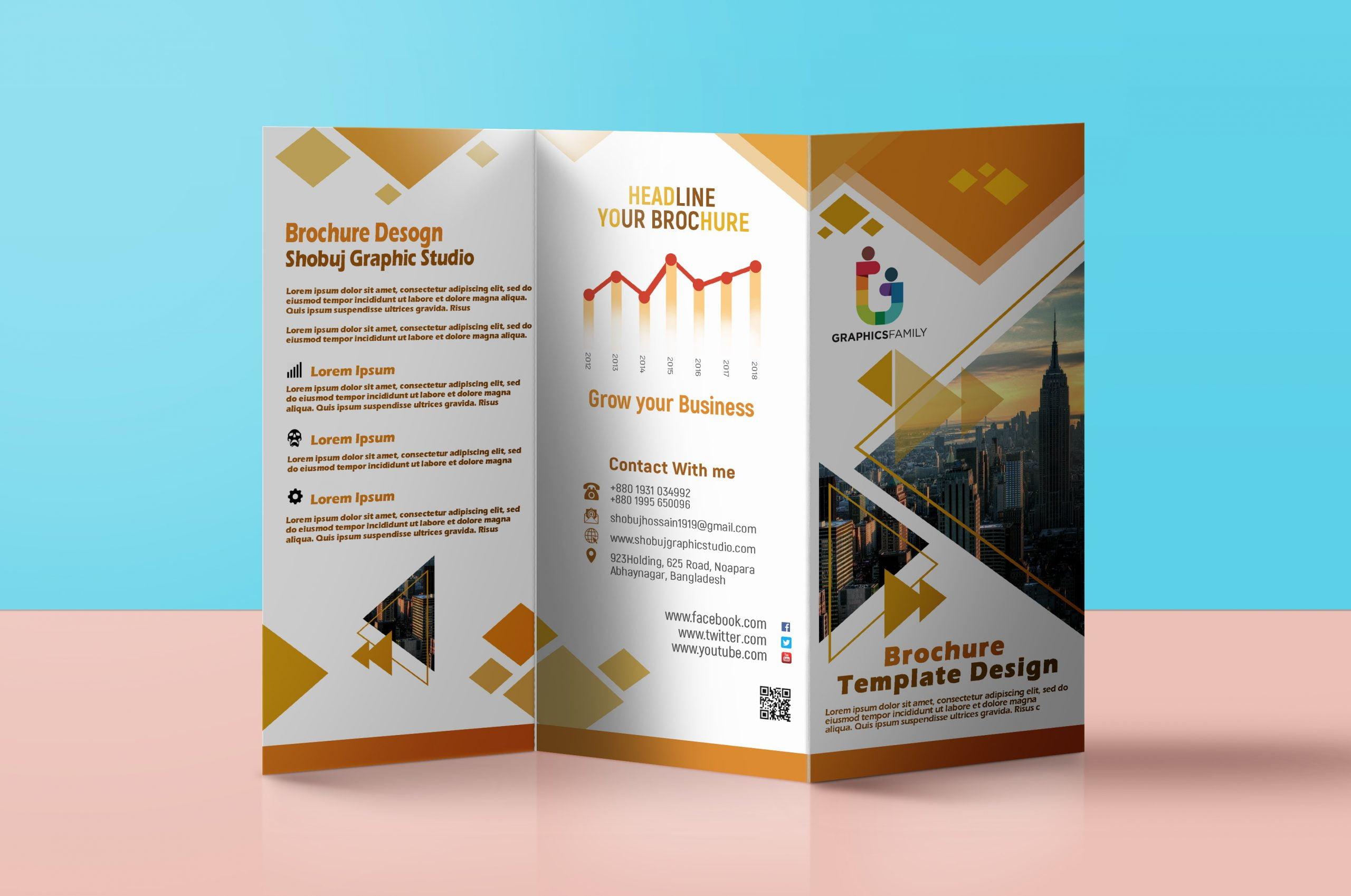 Modern Tri Fold Brochure Design
