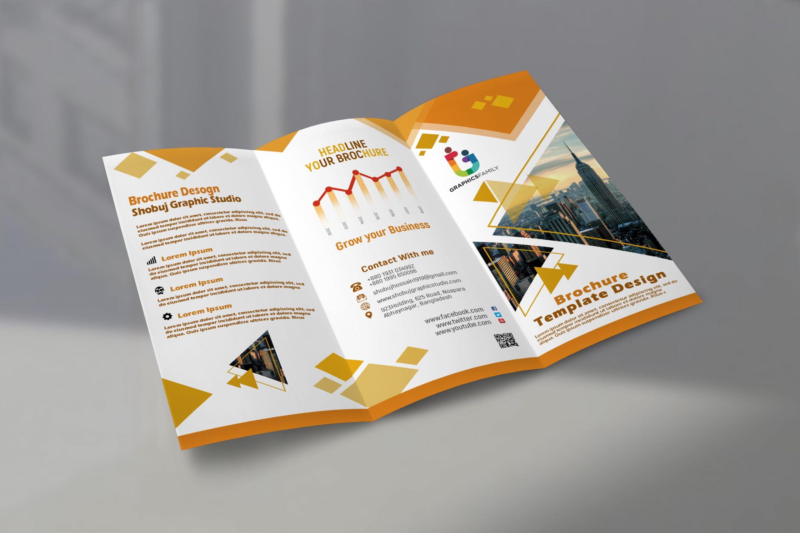 Modern Tri Fold Brochure psd