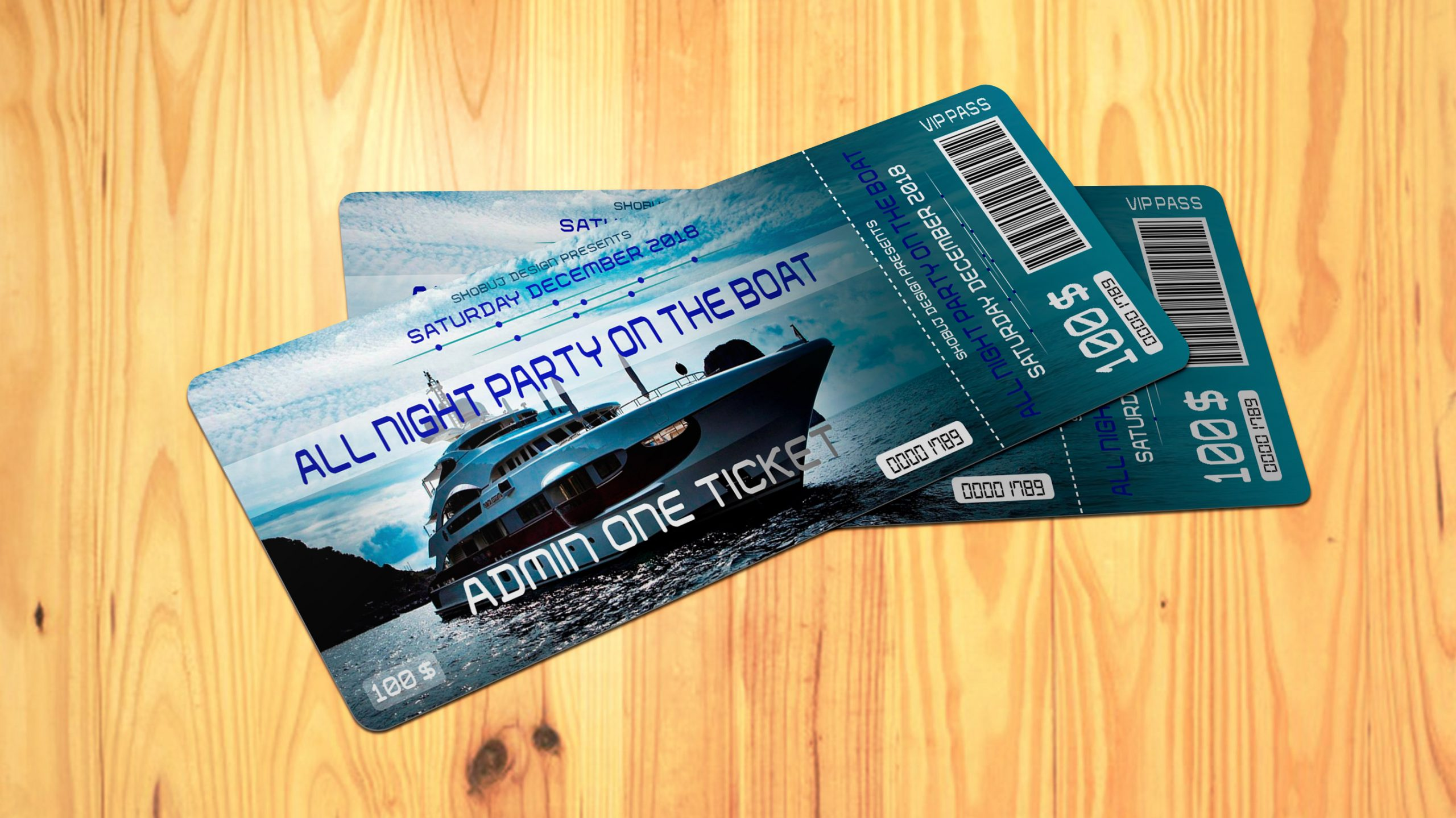 Night Party Event Ticket Design psd