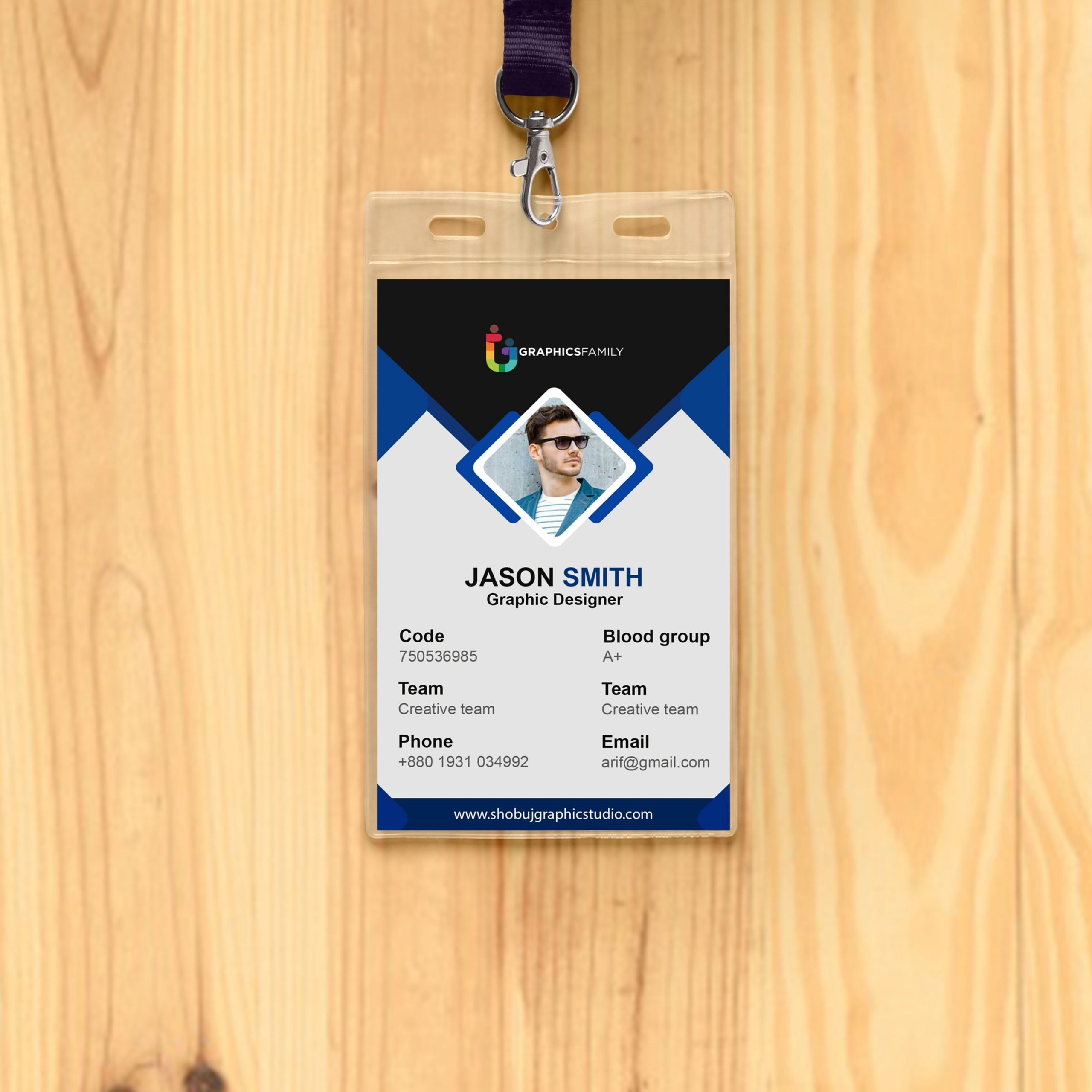 Office Id Card Design Free Psd Download GraphicsFamily