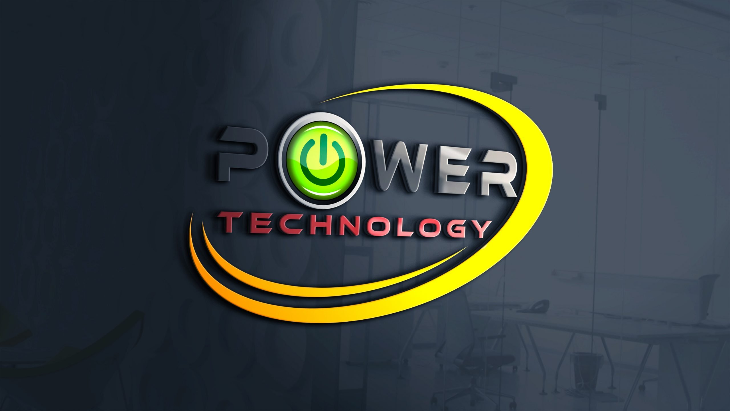 modern power and technology logo design free psd modern power and technology logo design
