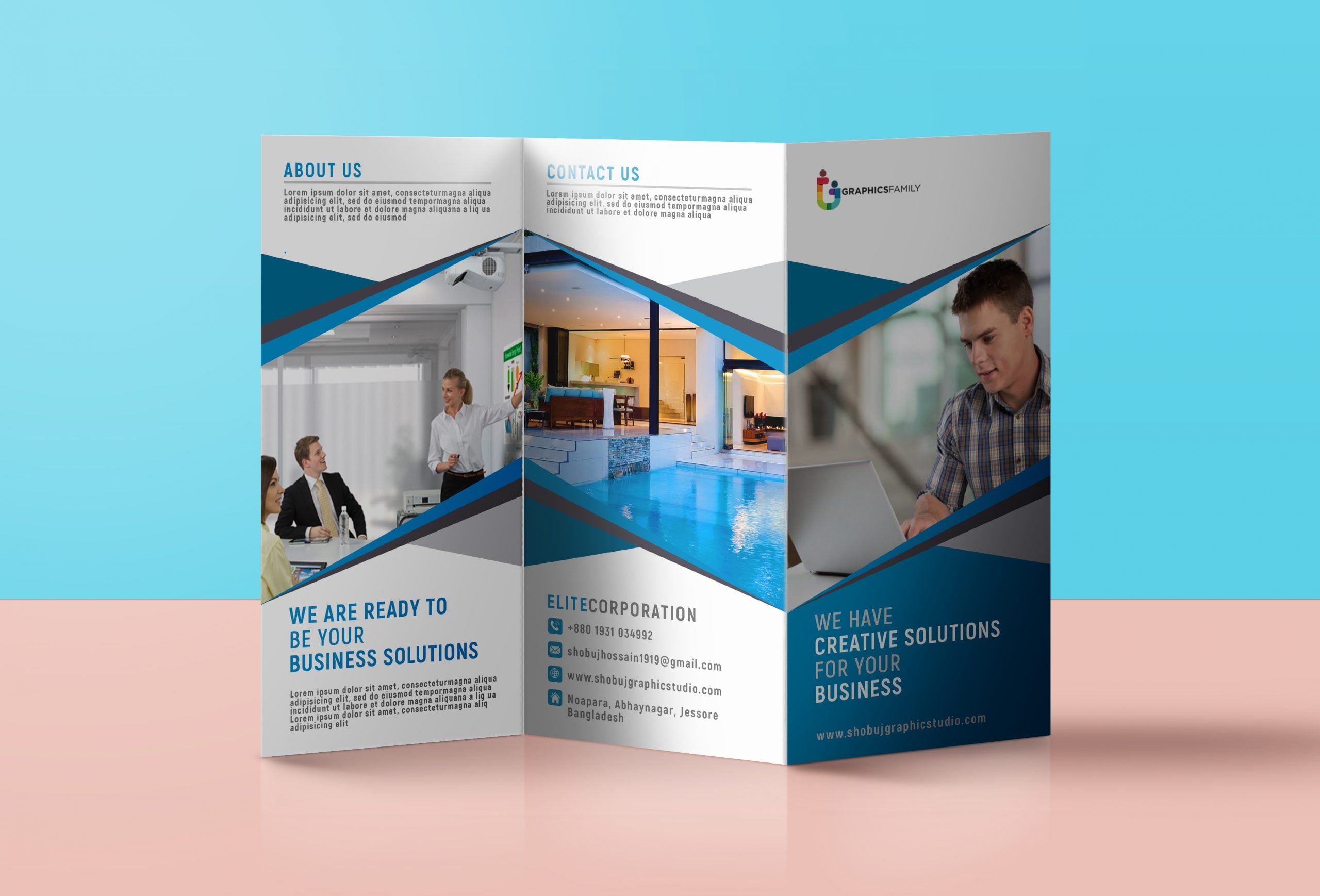 Professional Tri Fold Banner Template