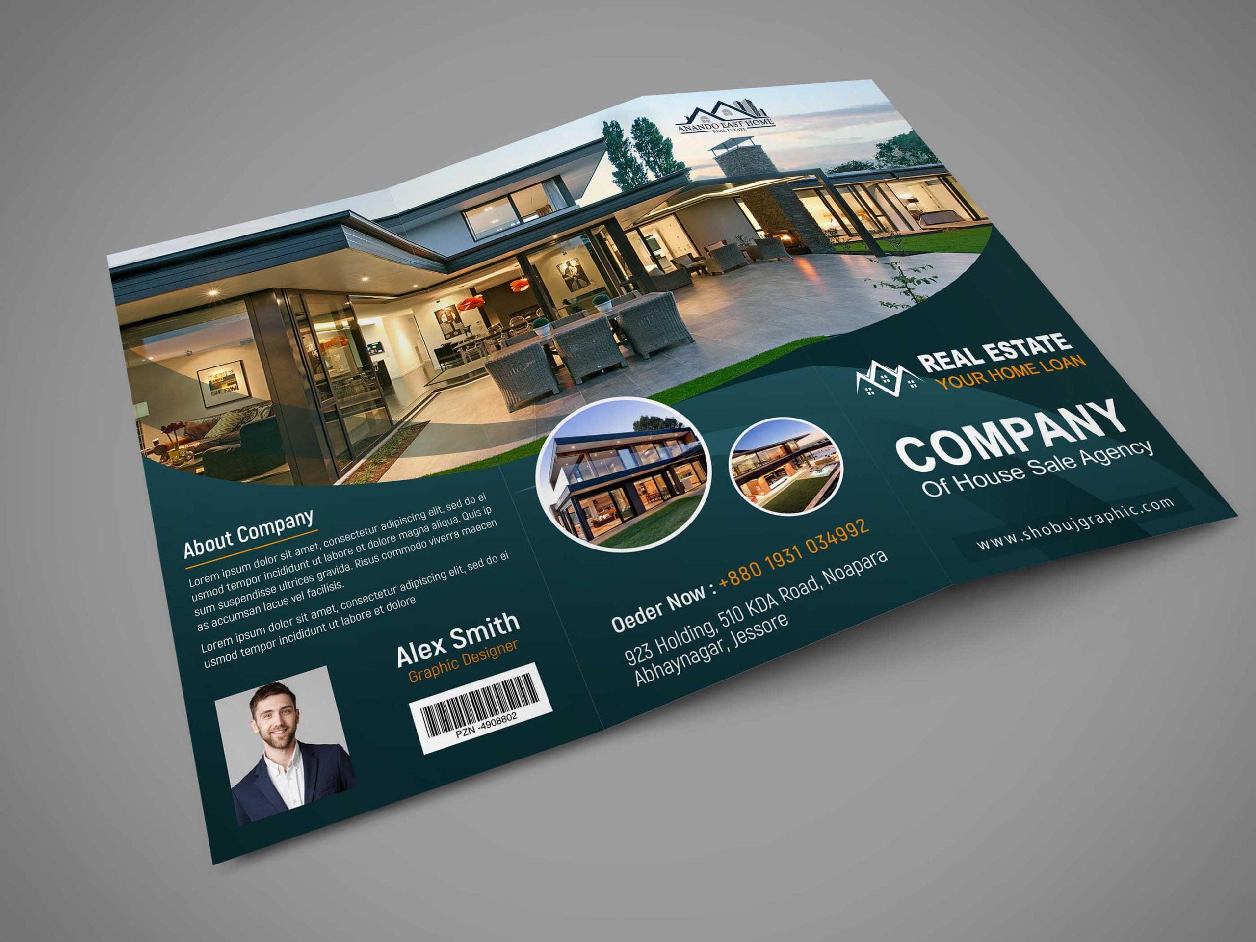 Real Estate Brochure Design Template Free