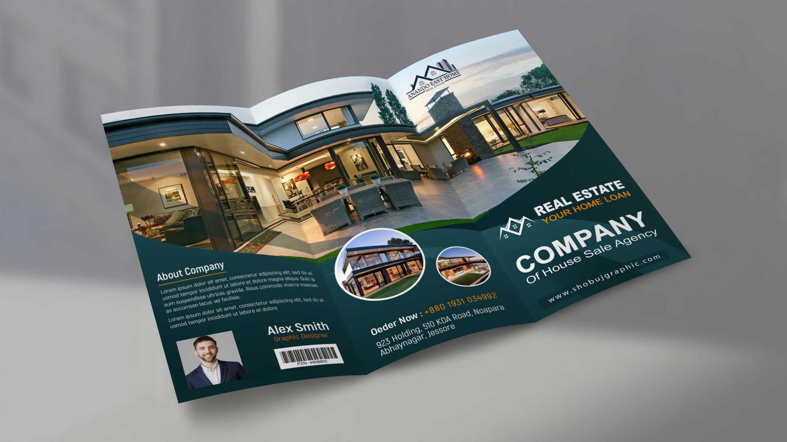 Real Estate Brochure Design Template Presentation