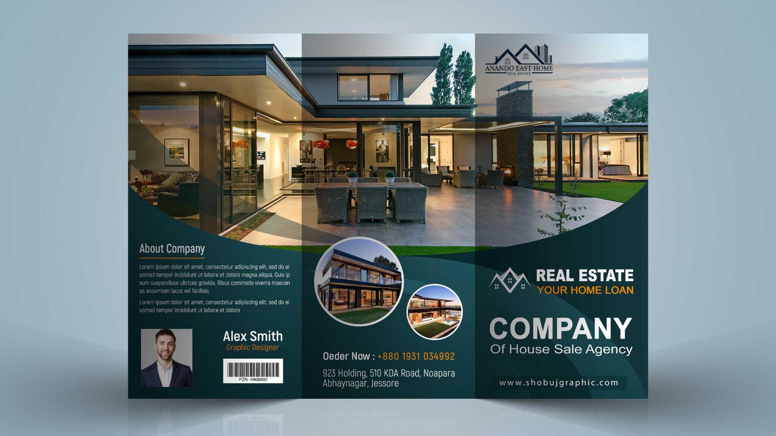Real Estate Brochure Design Template in Photoshop