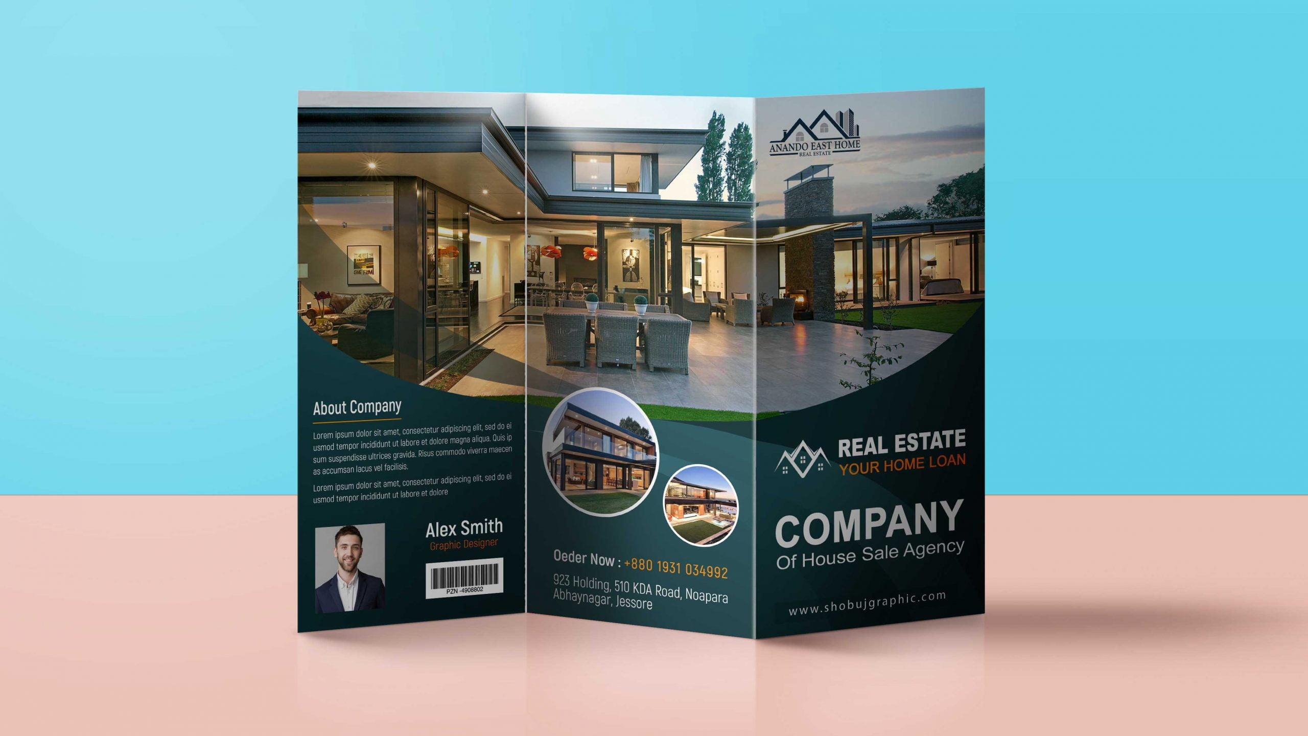 Real Estate Brochure Design Template psd