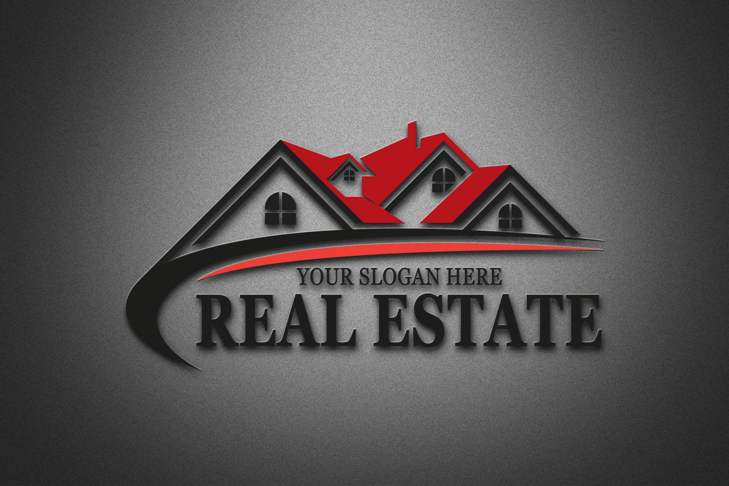 Real Estate Logo Design 3d psd