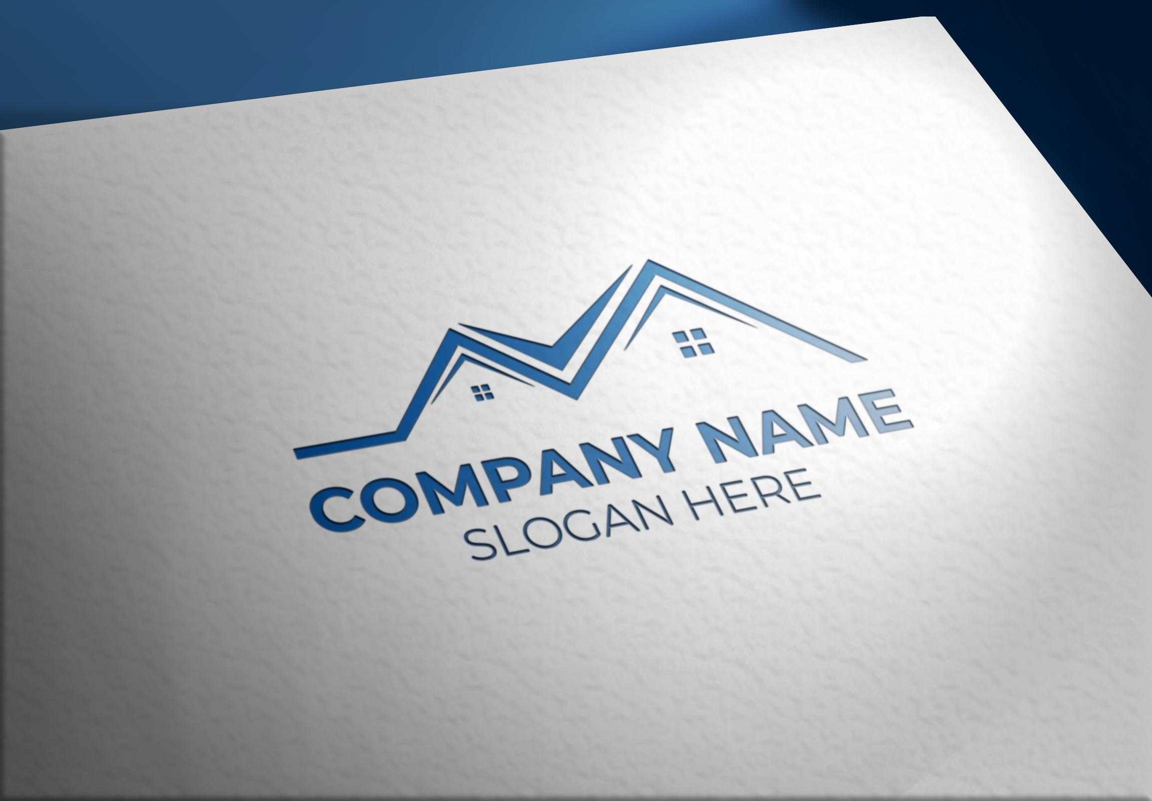 Real Estate Logo On Realistic Paper Mockups