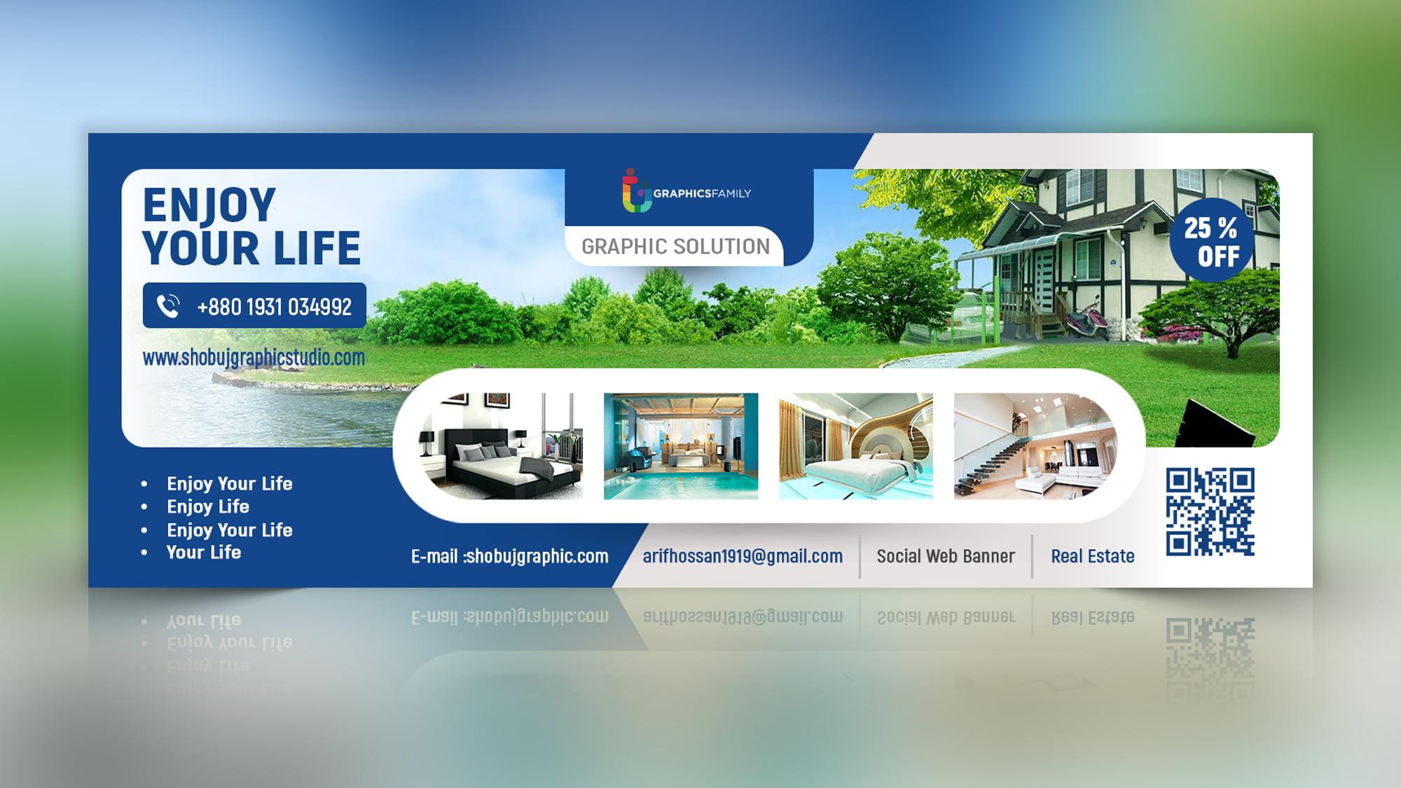 Real estate web banner design