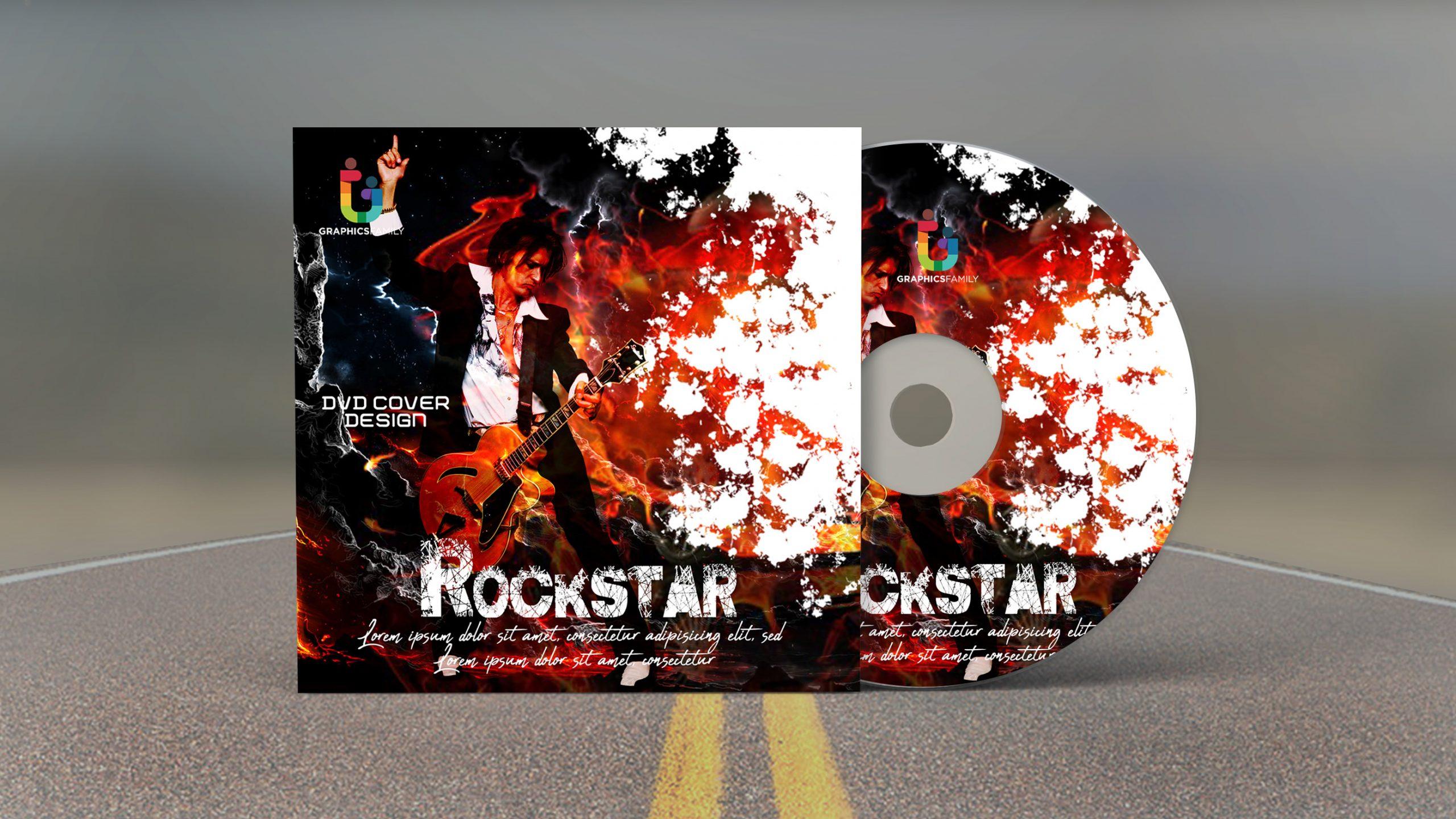 Rockstar Dvd Cover Design Template