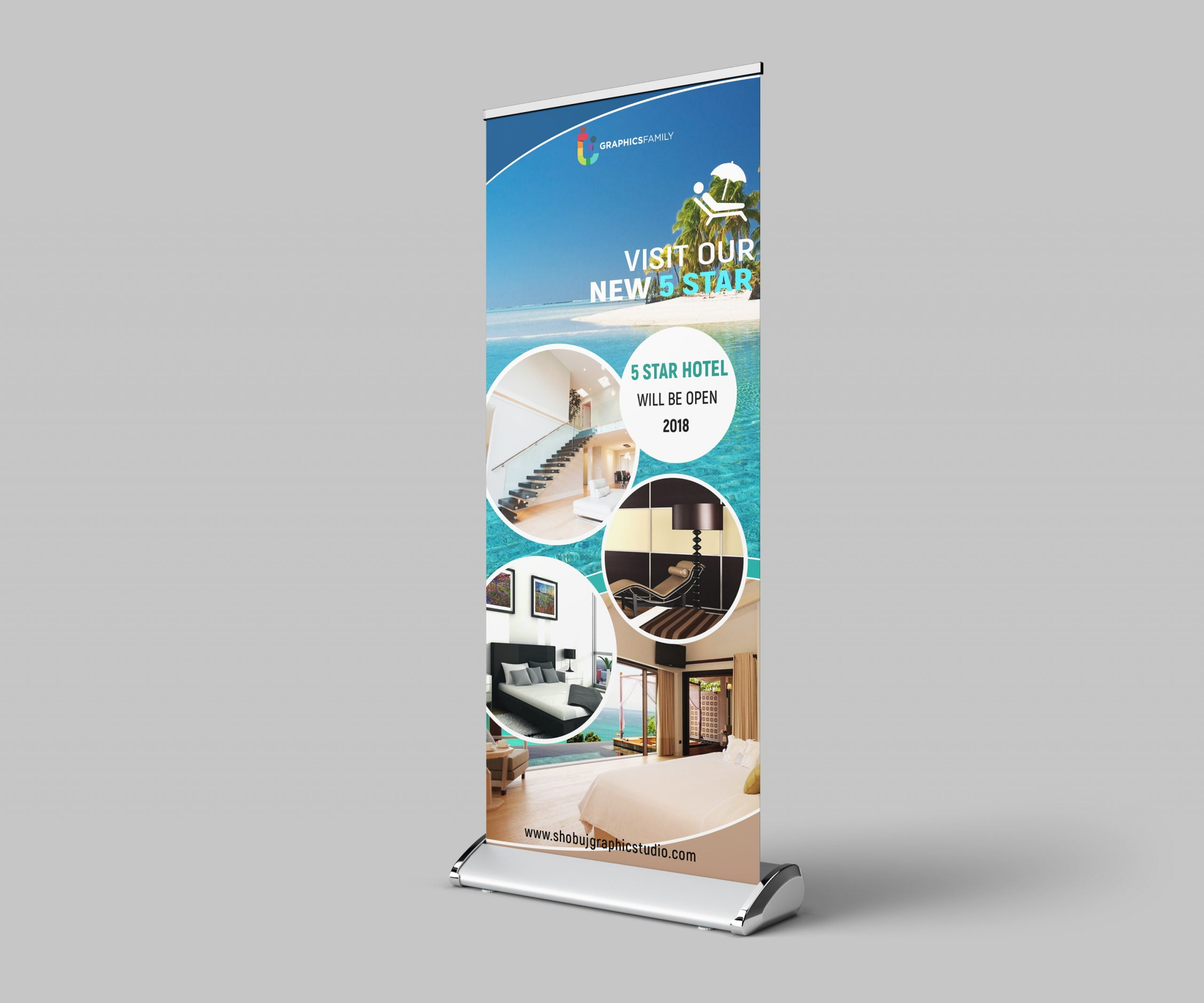 Roll up banner Design for Tourist