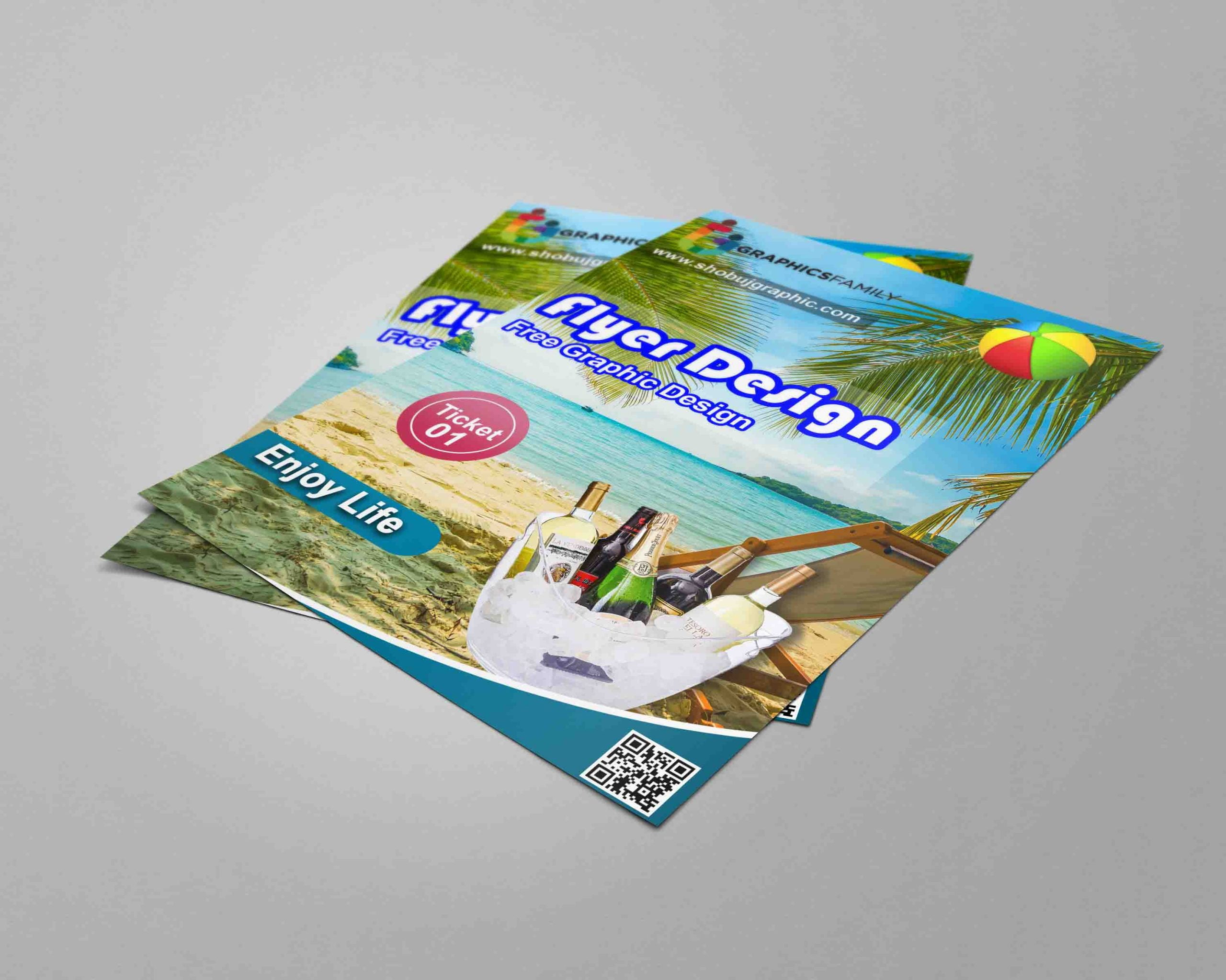 Sea Beach Event Free PSD Flyer Template Free