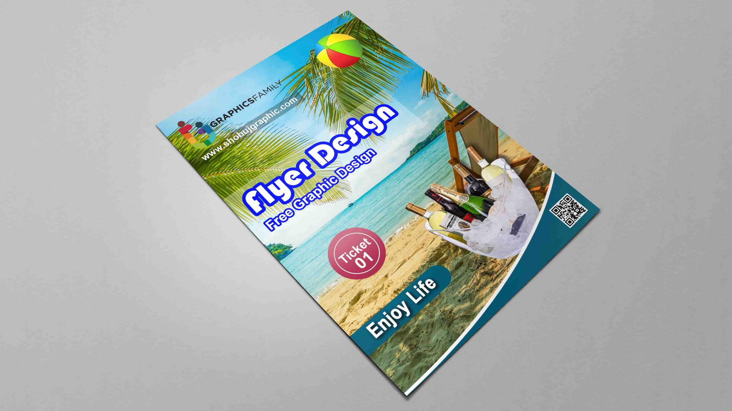 Sea Beach Event Free PSD Flyer Template