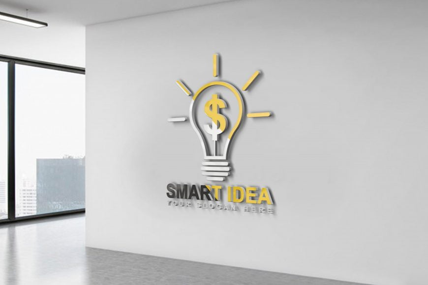 Smart-Idea-Logo-Design-Office-wall-scaled