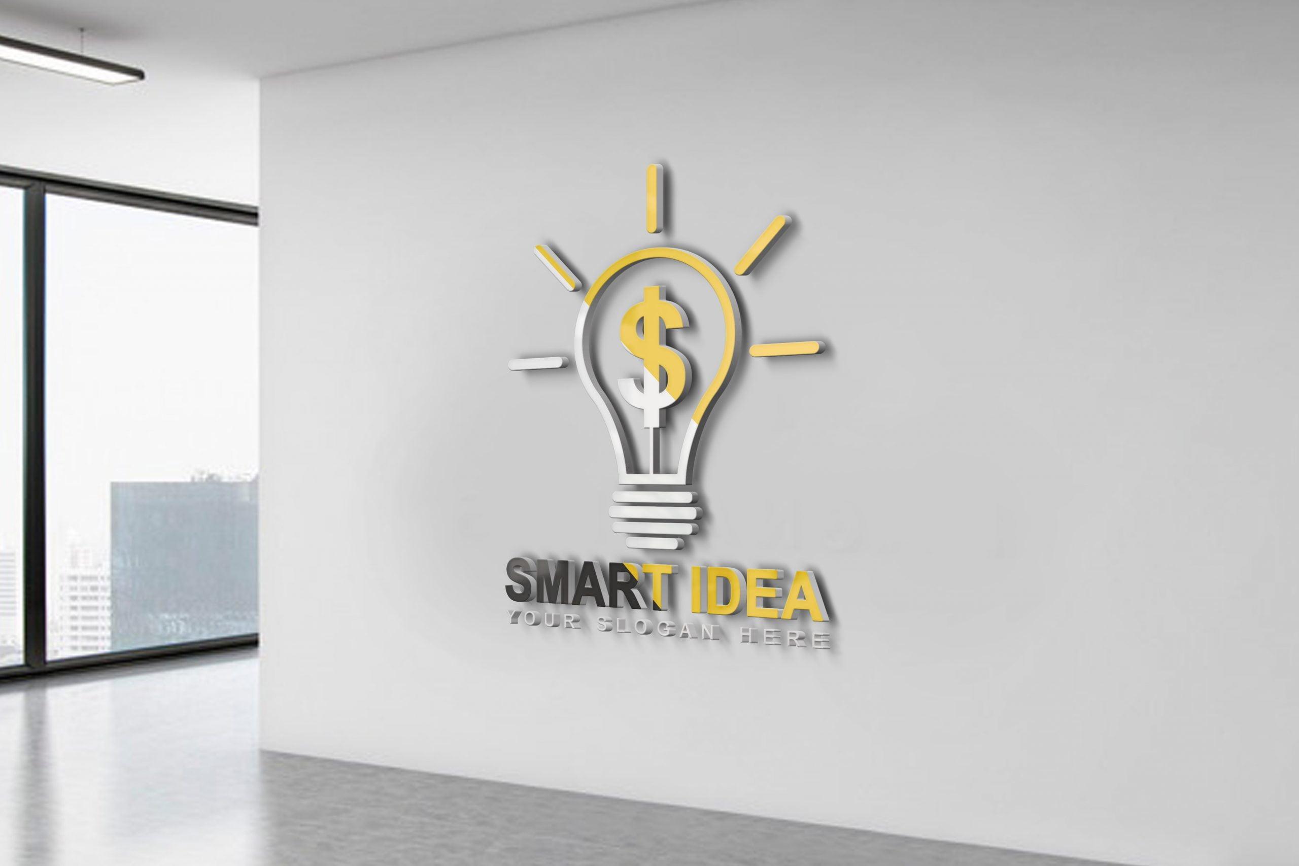 Smart Idea Logo Design Office wall