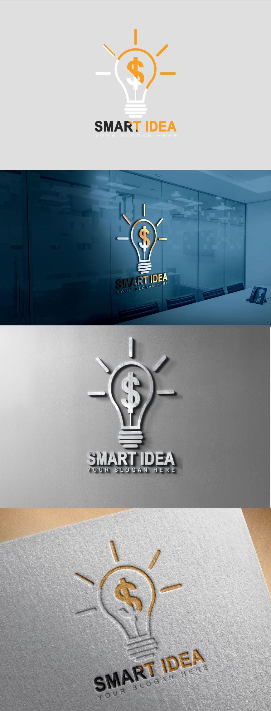 Smart Idea logo design psd