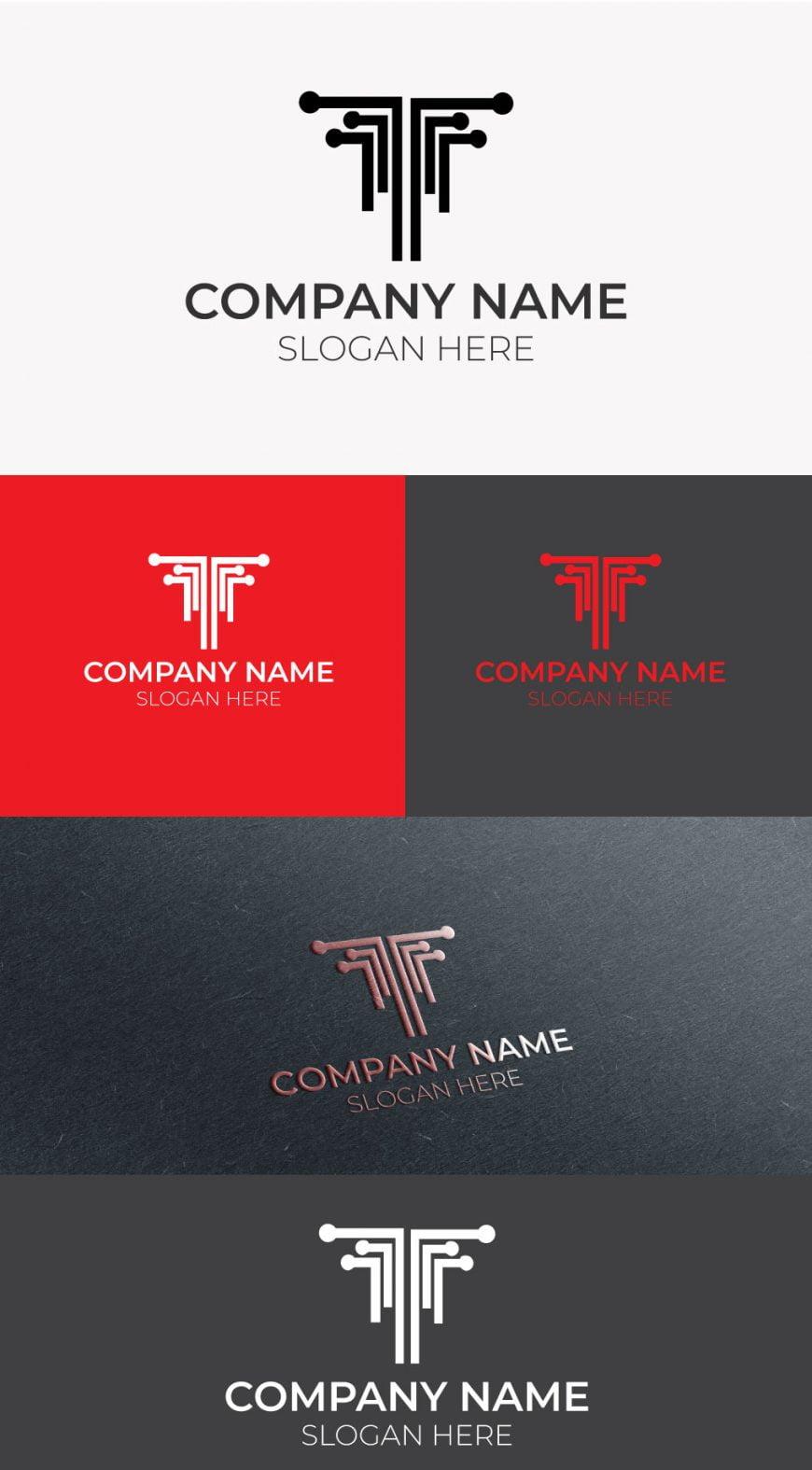 T-tech-logo-template