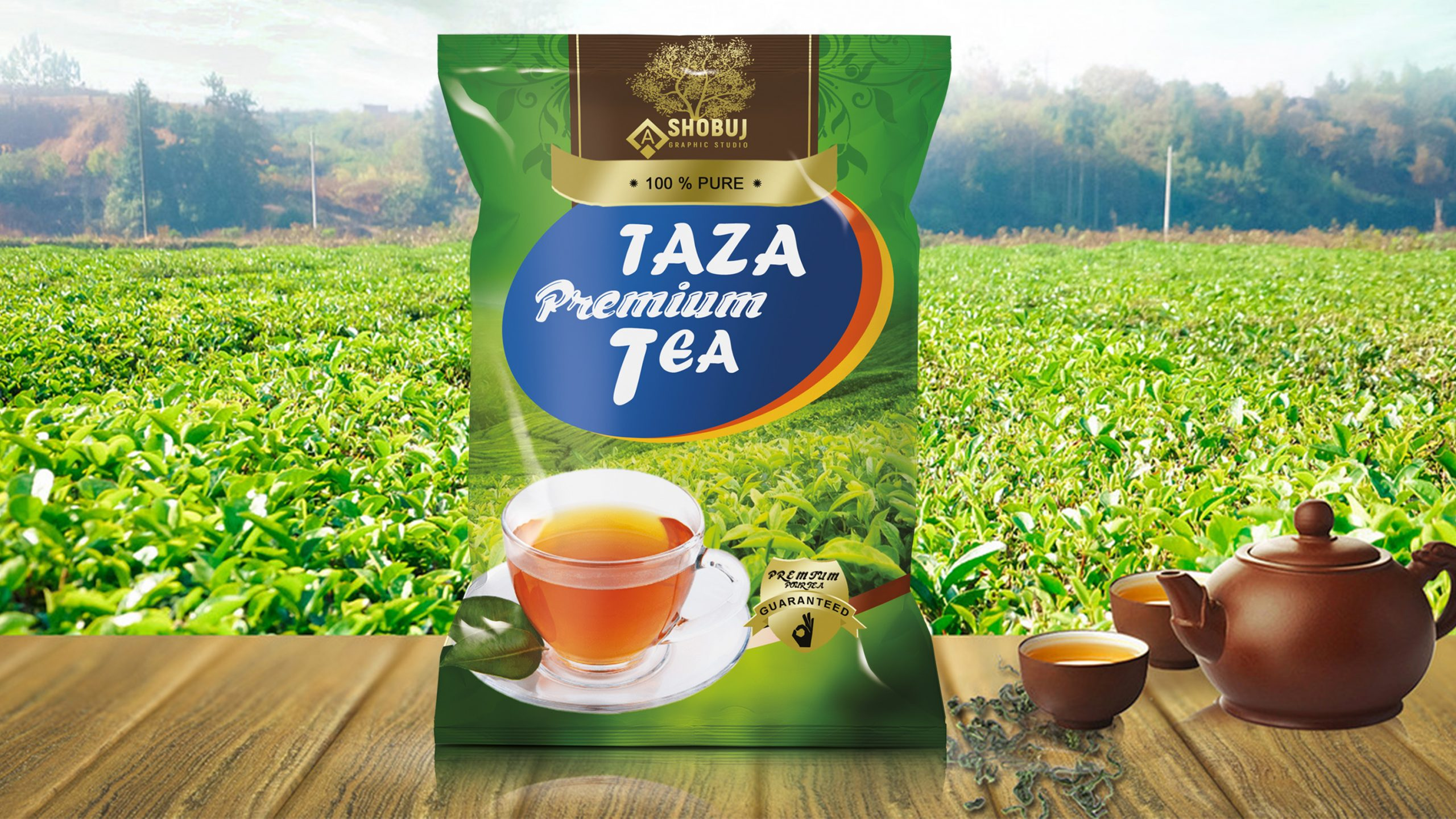 Tea packaging Free template