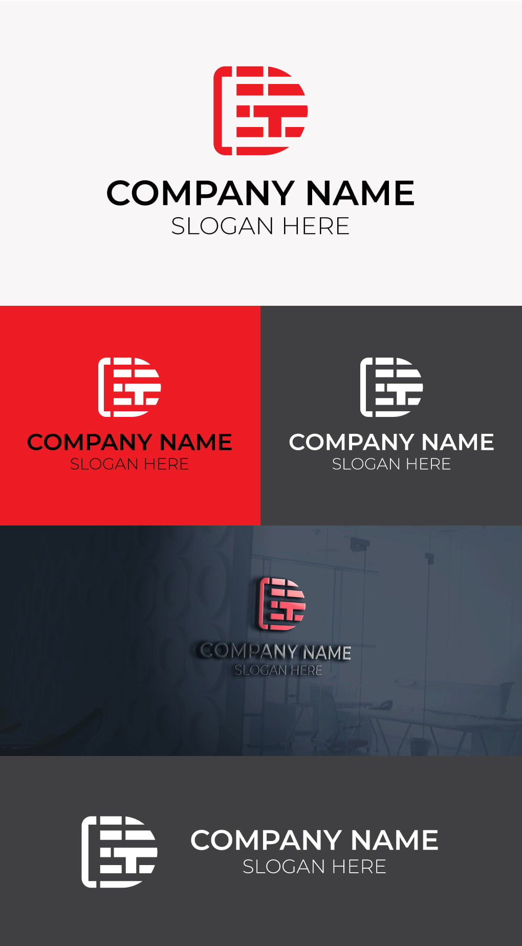 Tech logo template