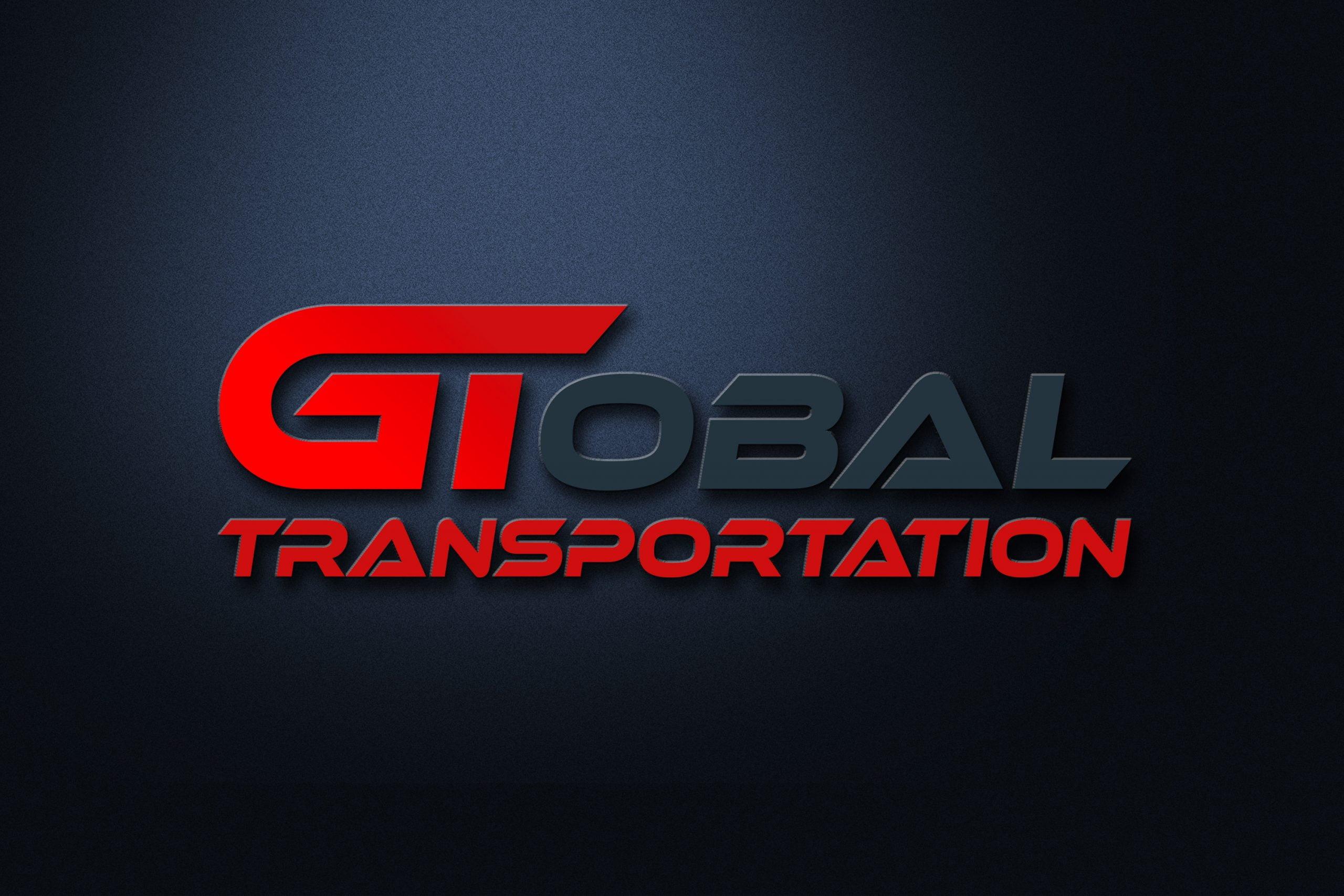 Transportation Logo Design on 3d mockup