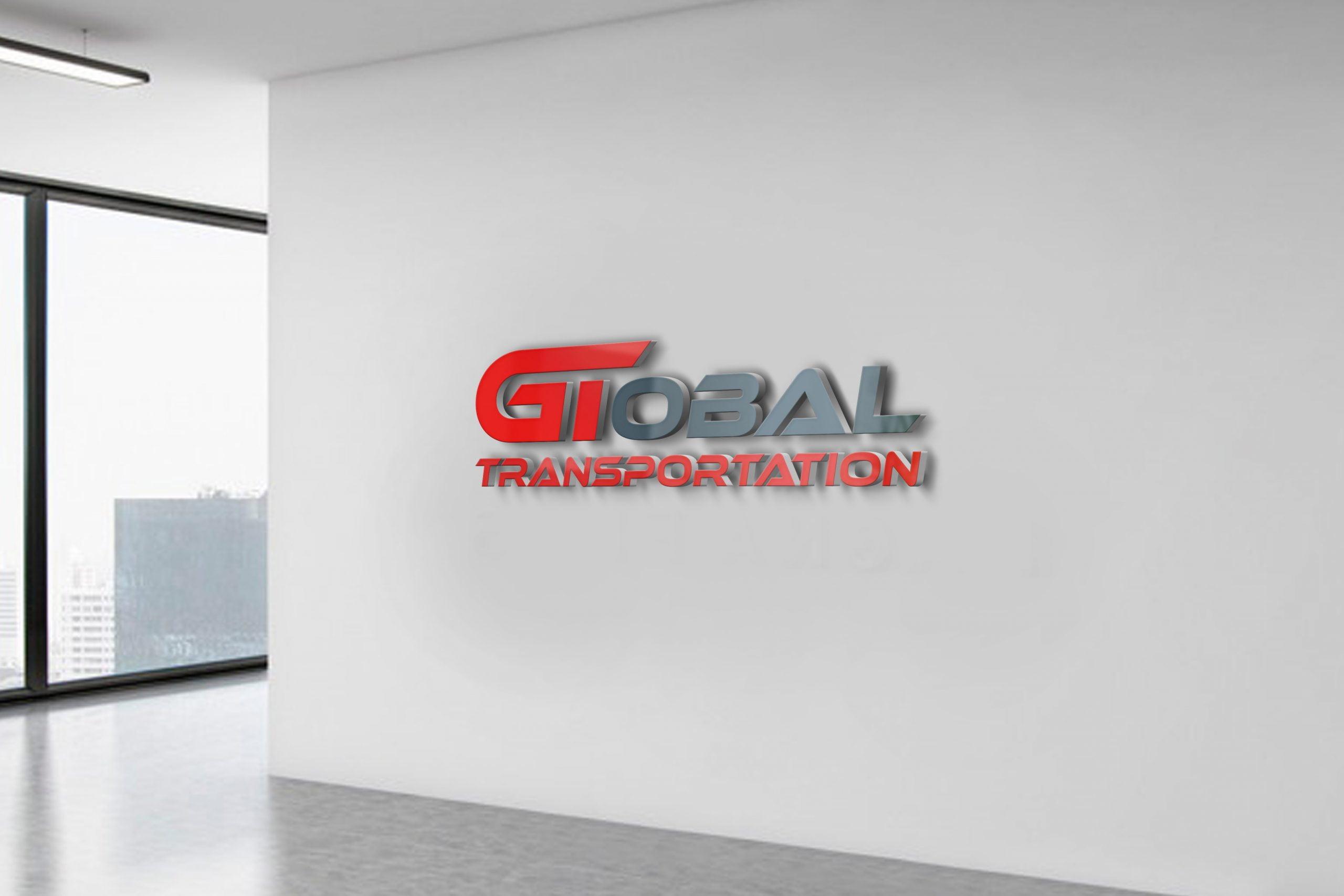Transportation Logo Design on white wall