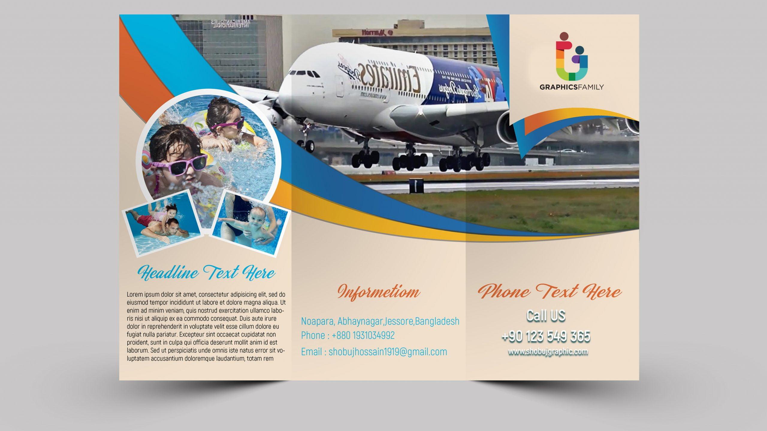 Traveling trifold brochure design