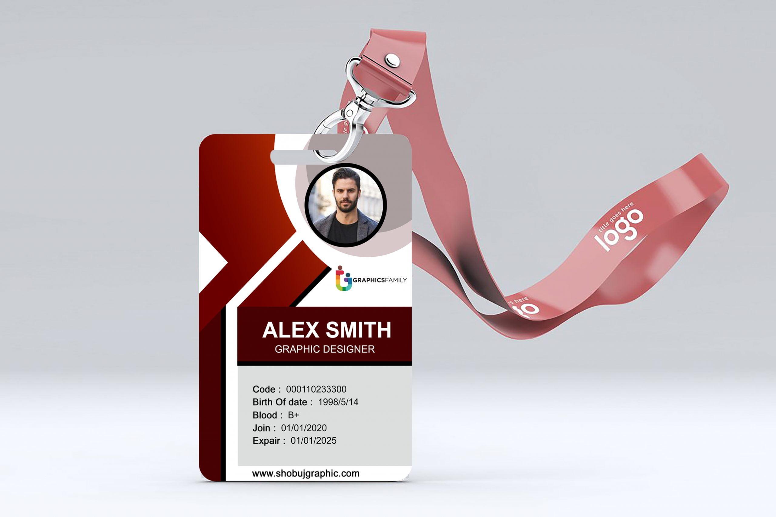 corporate id card design template
