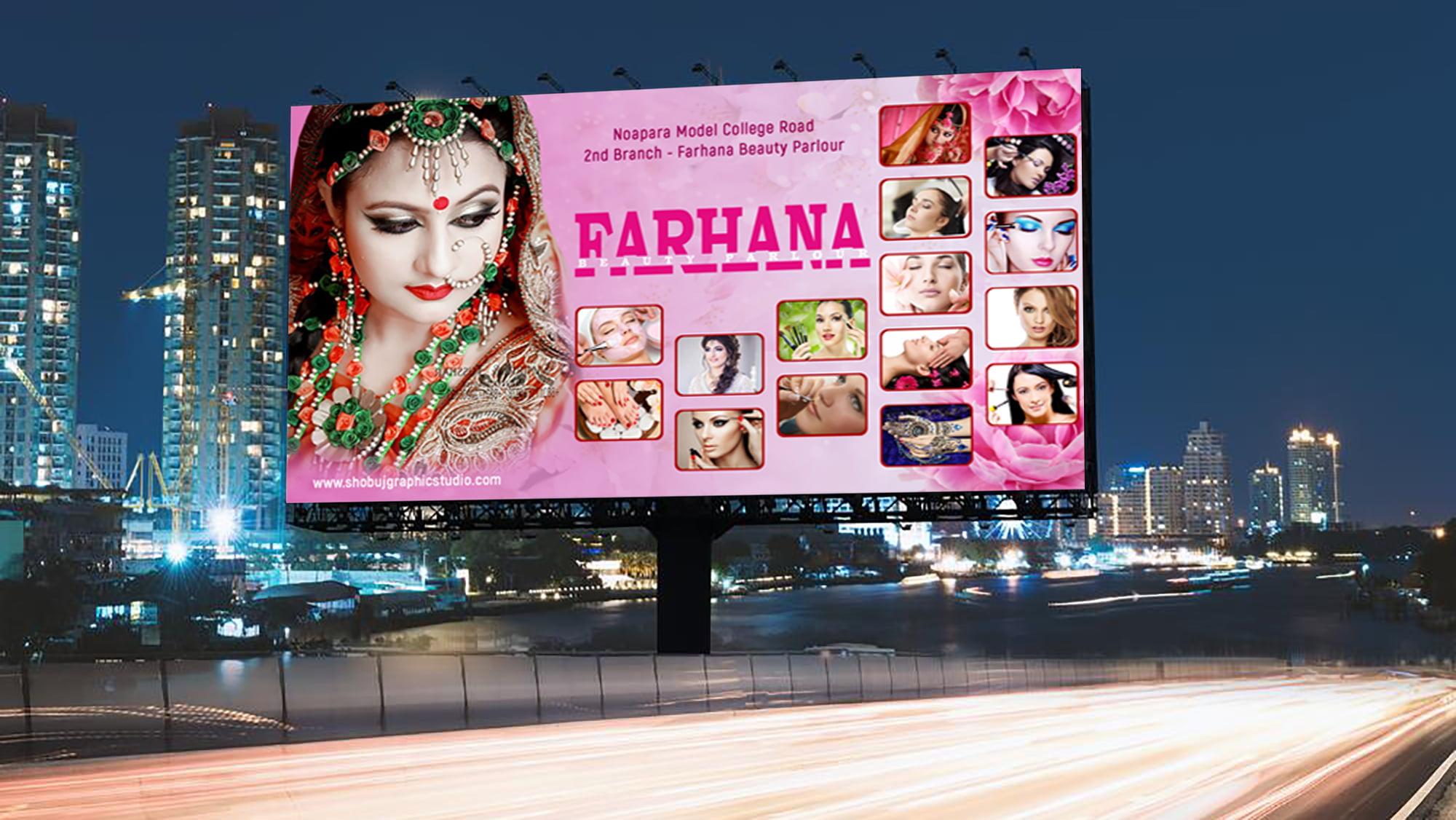 Parlour Banner Design Template
