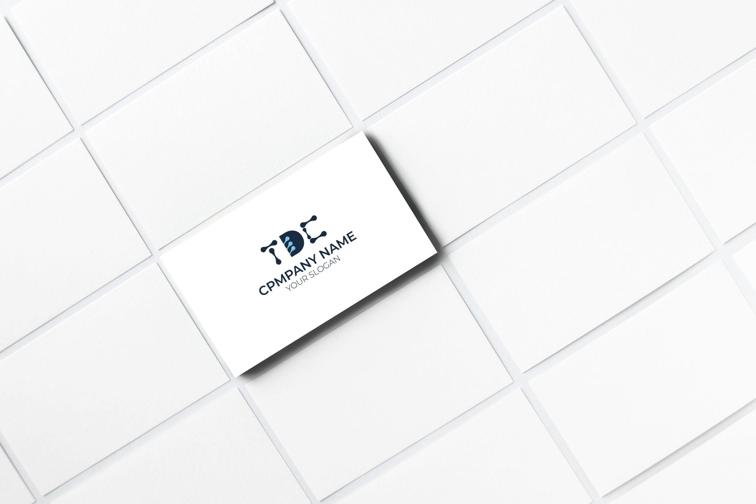 tdc tech logo on business card