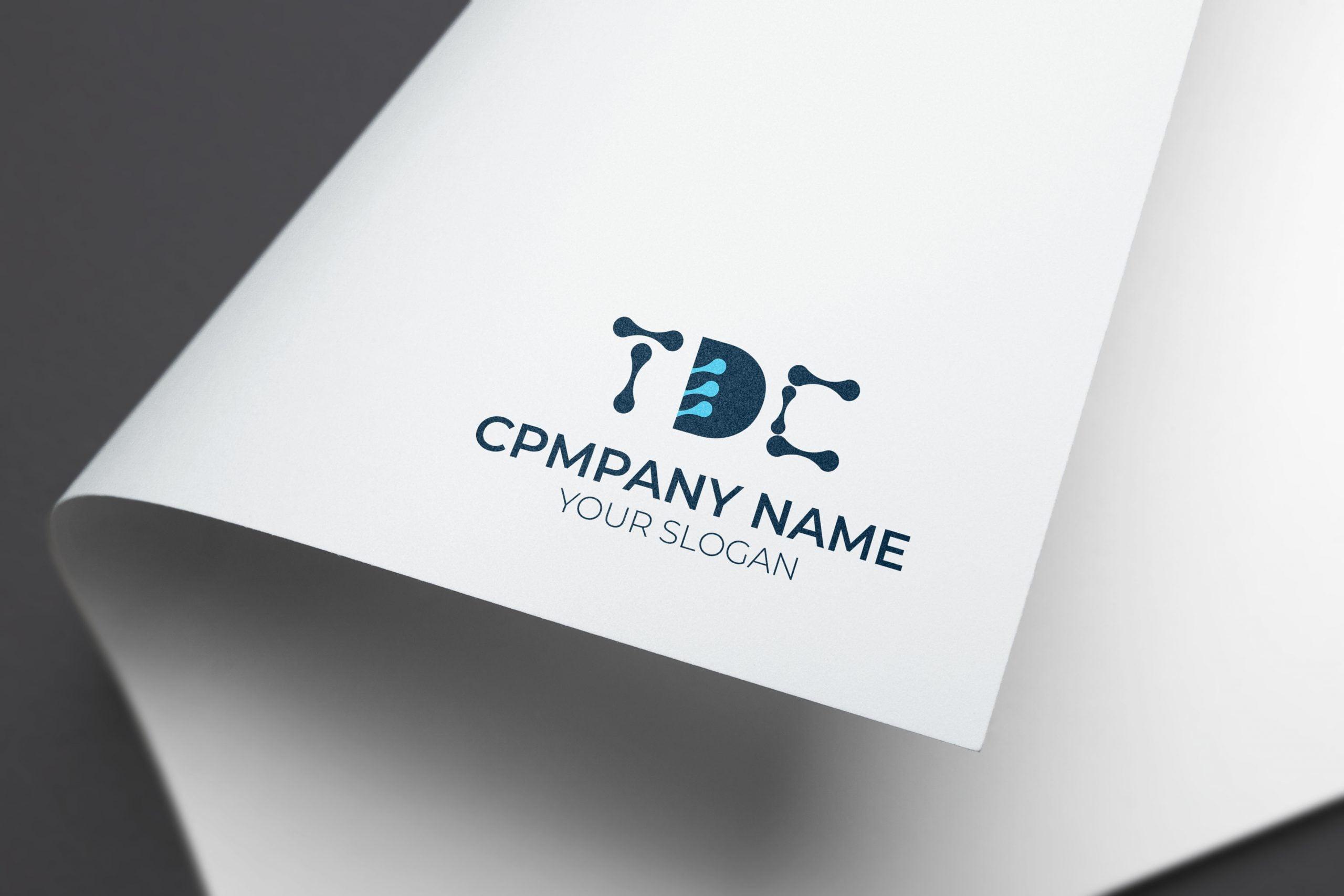 tdc tech logo on paper mockup